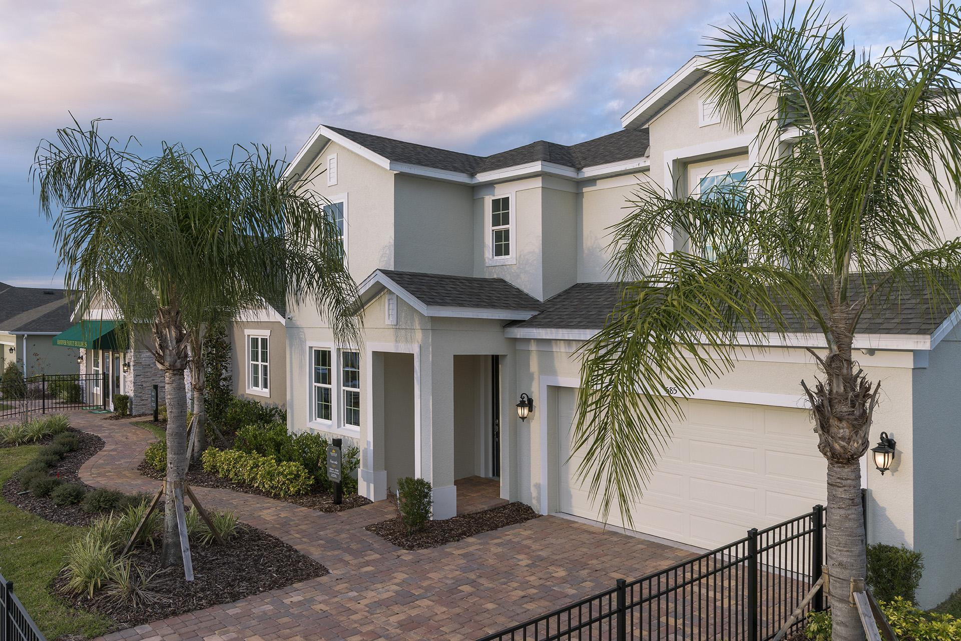 Front Elevation:Newcastle Model For Sale  |  585 Sardinia Circle at Williams Preserve