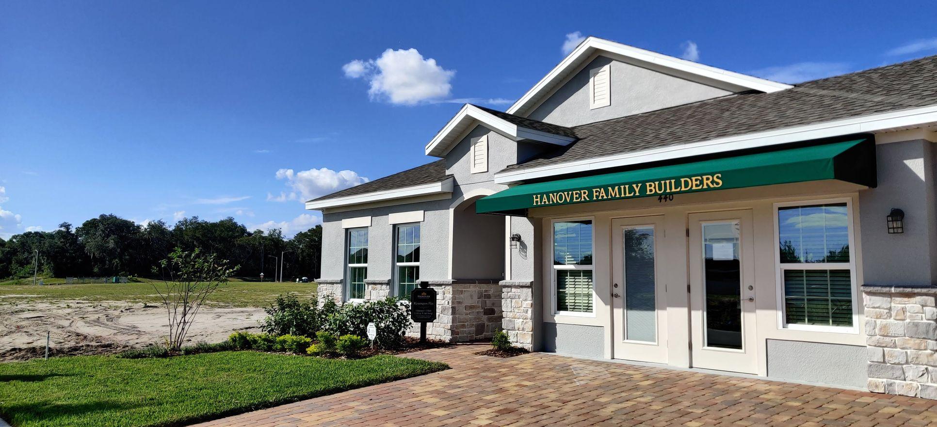 Kensington Flex Model Home with 3-Car Garage (set up as a sales office):Davenport Estates, Davenport, FL