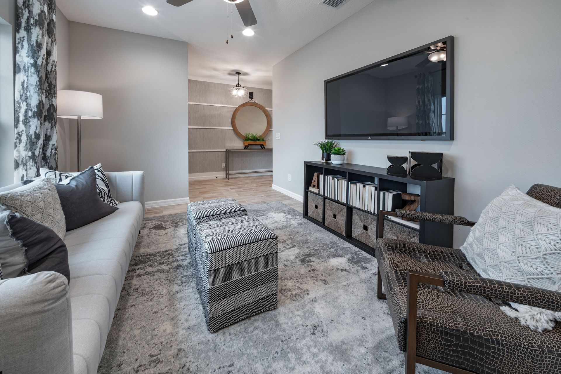 Flex Room off Entry:Bartley Flex Model Home at Orchid Terrace, Haines City