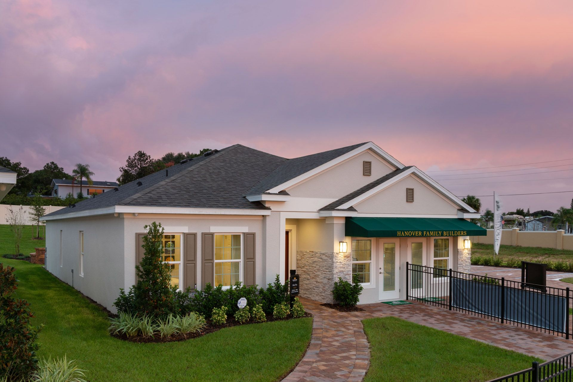 Elevation:Selby Flex Model Home in Orchid Terrace, Haines City