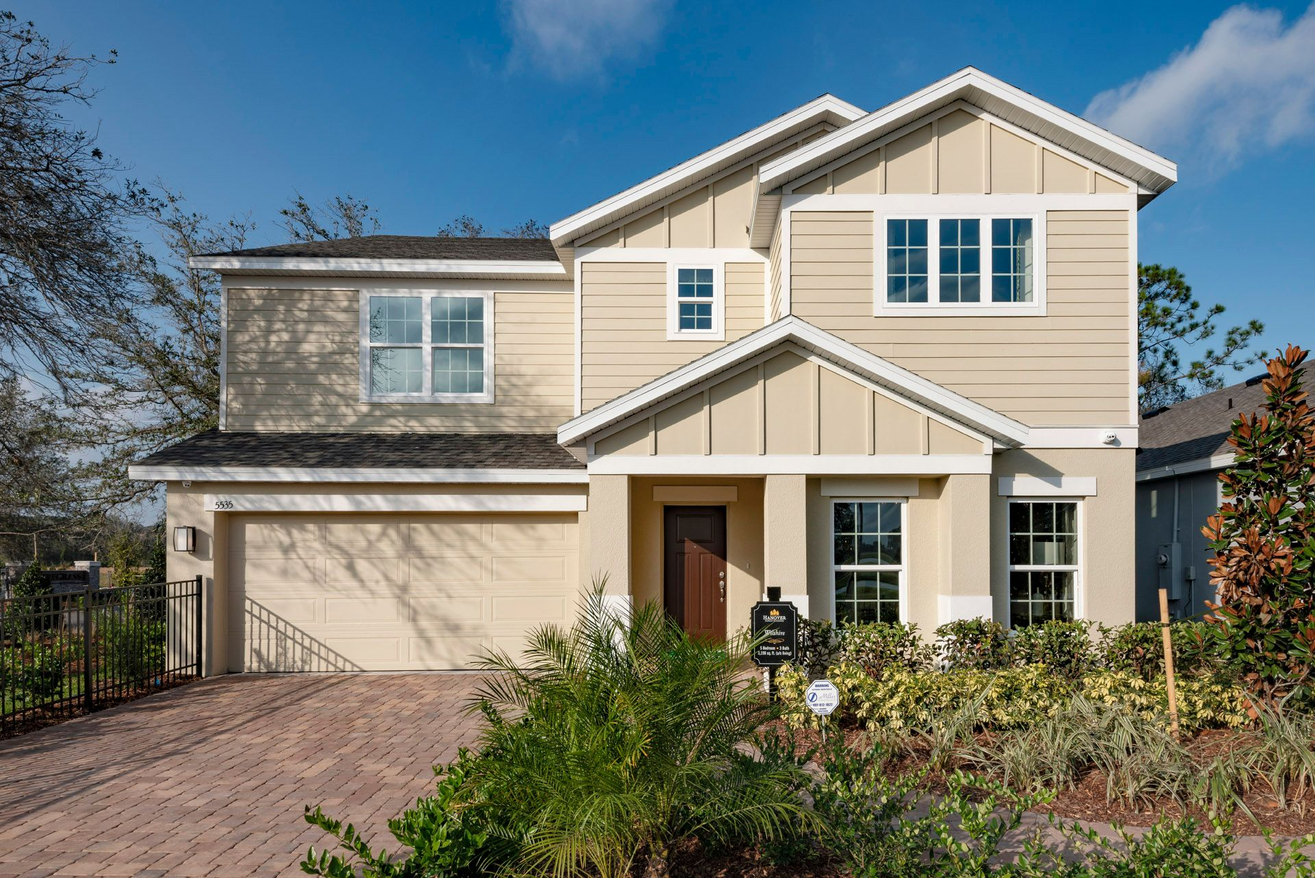 Exterior of a Wilshire Floor Plan, Available to Build:Wilshire Model Homes available to view in Hanover Lakes and Wiregrass Communities
