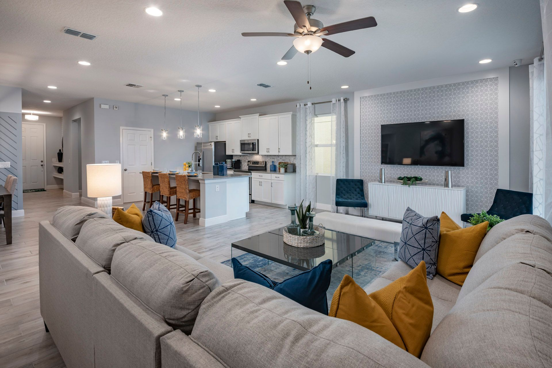 Expansive Open Concept:Miles Model Home at Wiregrass