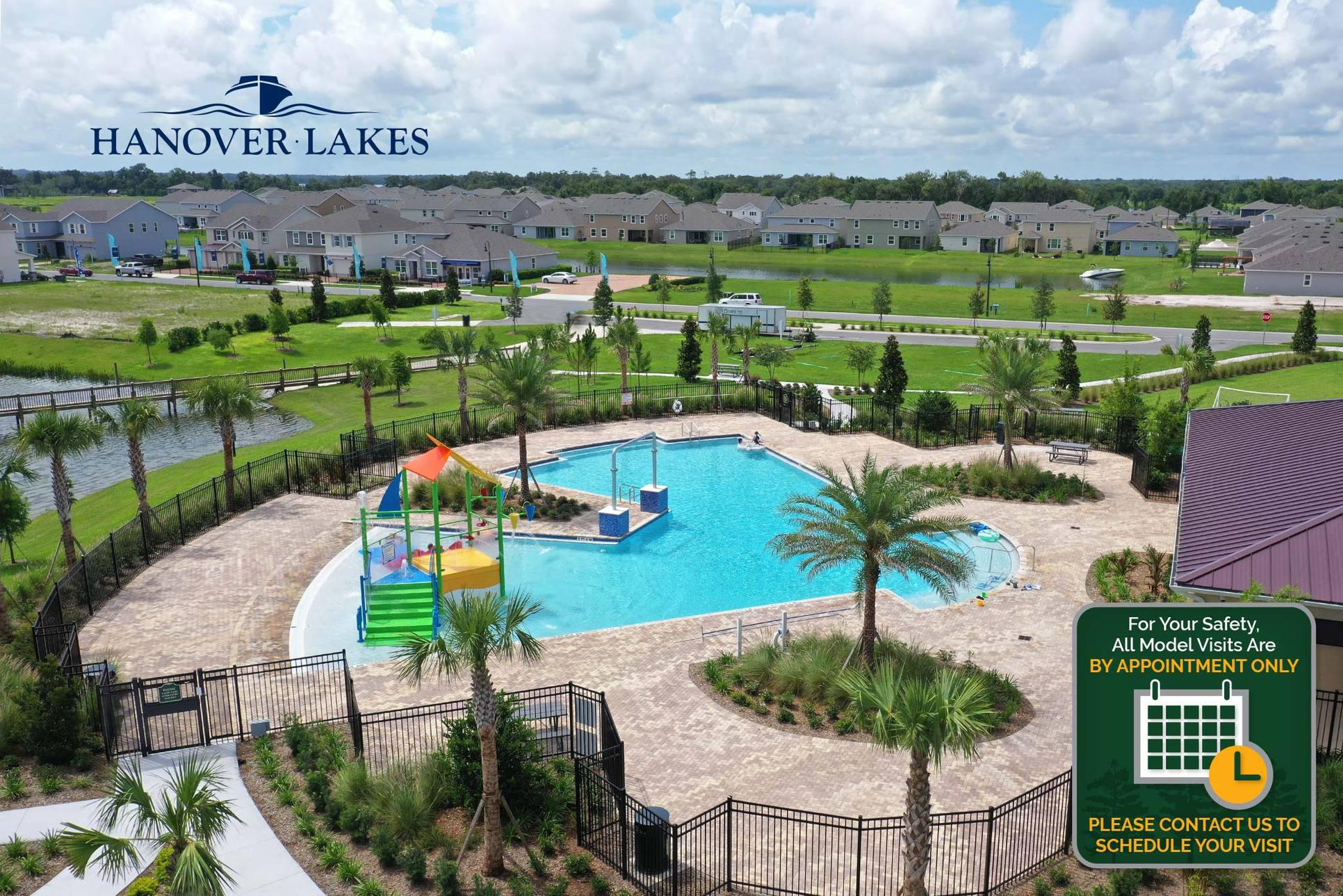 Hanover Lakes Amenity:Community open by Appointment Only