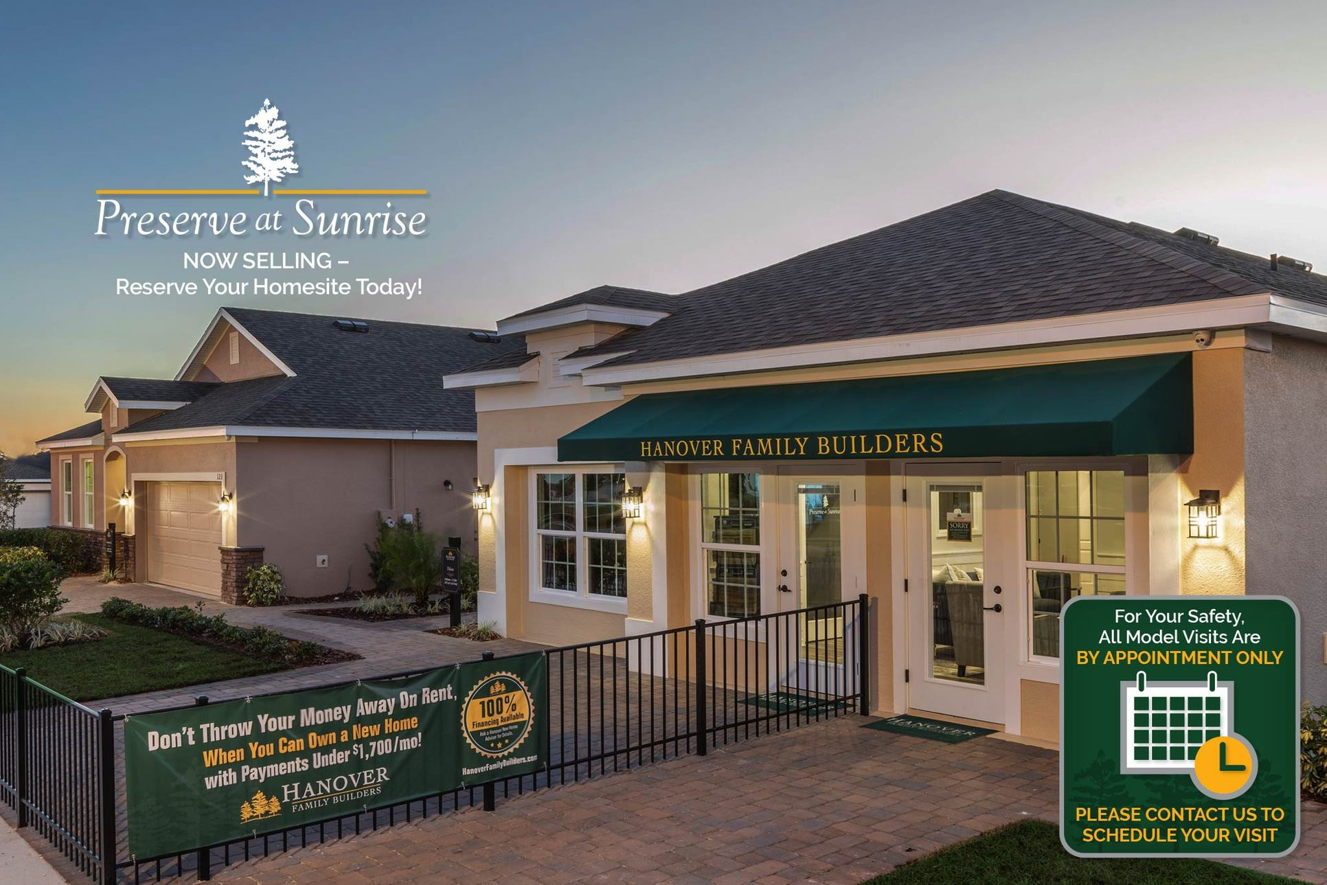 Preserve at Sunrise, Groveland, Florida:Open by Appointment Only
