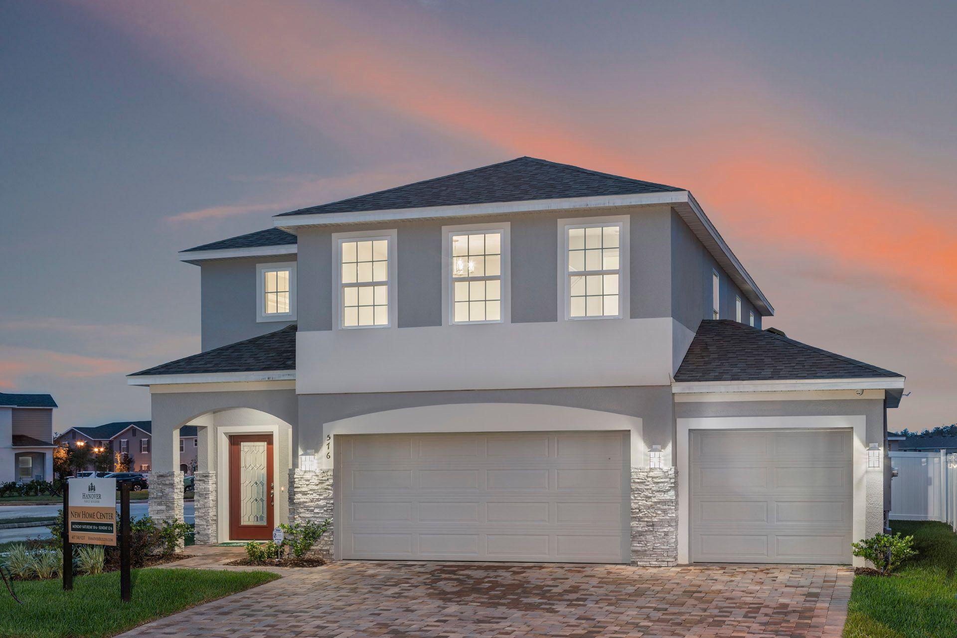 Sanibel Floor Plan Exterior Elevation, Available to Build:Cypress Hammock, Kissimmee