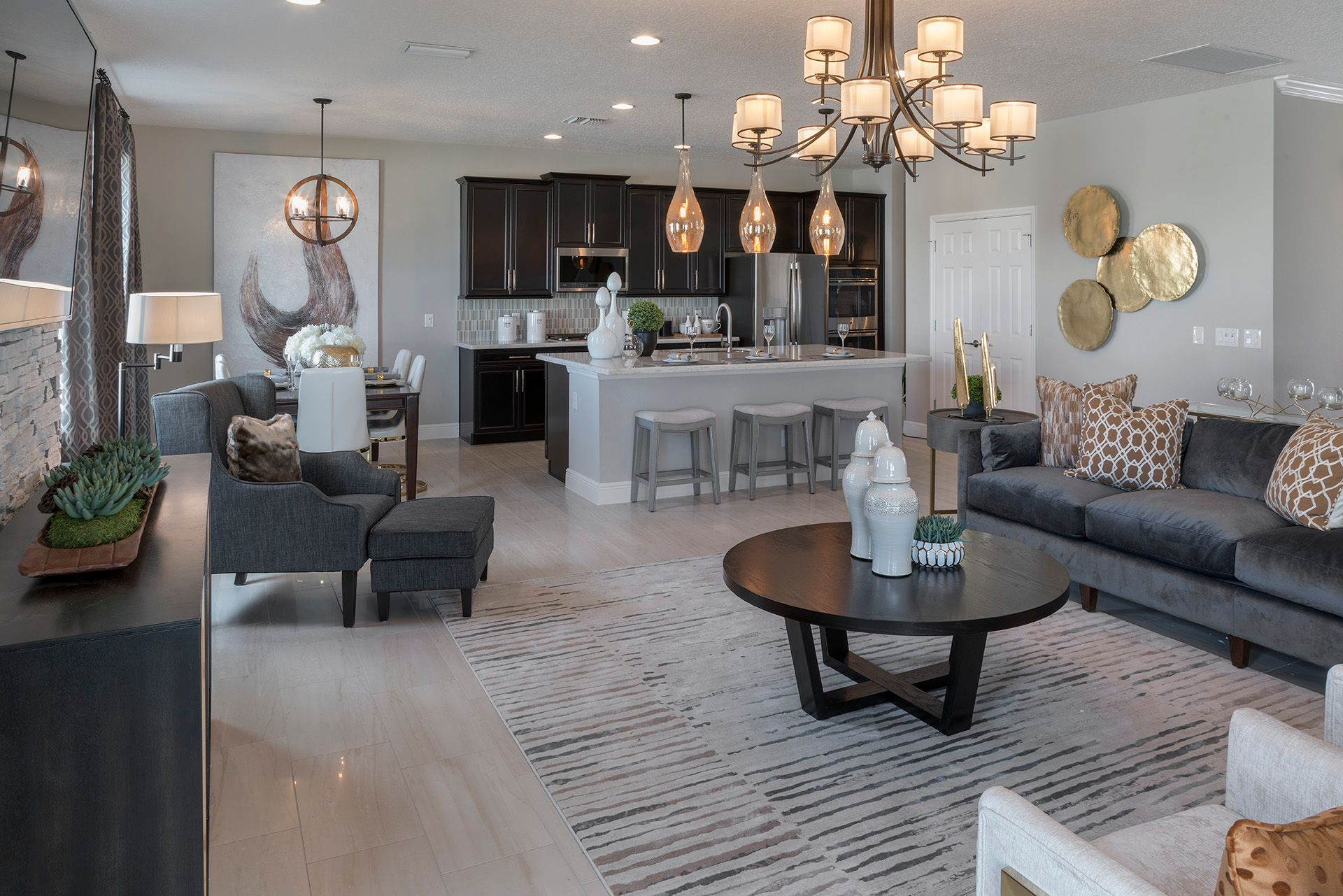 Gathering, Dining, & Kitchen on Main Level  |  Palmer Floor Plan, Available to Build