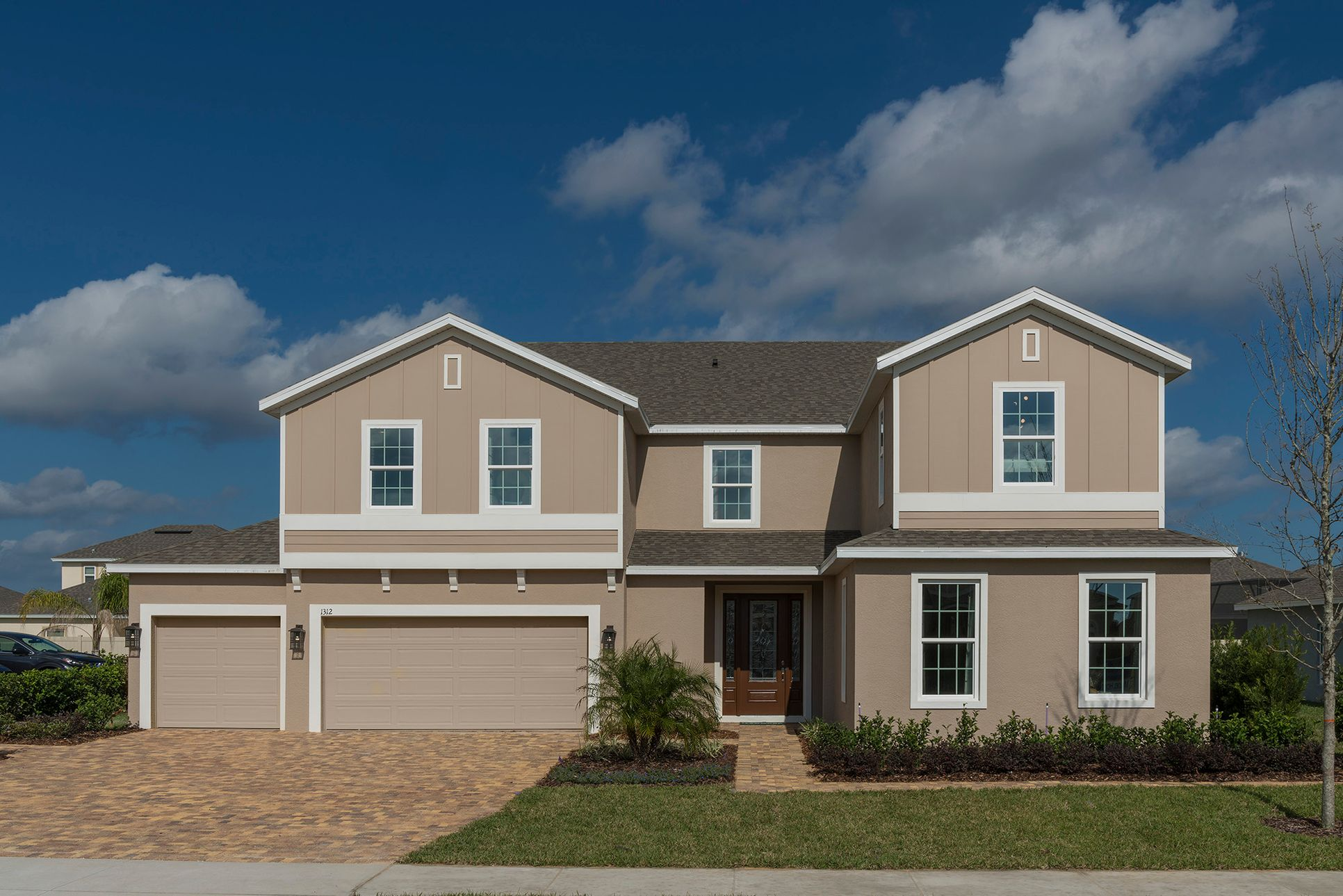 Palmer - Elevation 2 with Optional Cladding