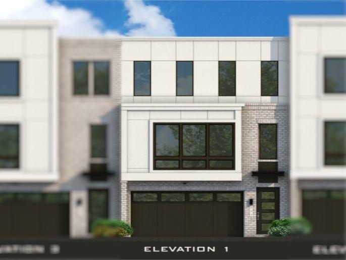 Piedmont Model w/ Elevator:Elevation 1