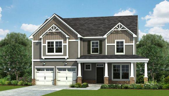 Interior:Topsail - Elevation B – 2 Garage Door Option Optional Wrap Porch
