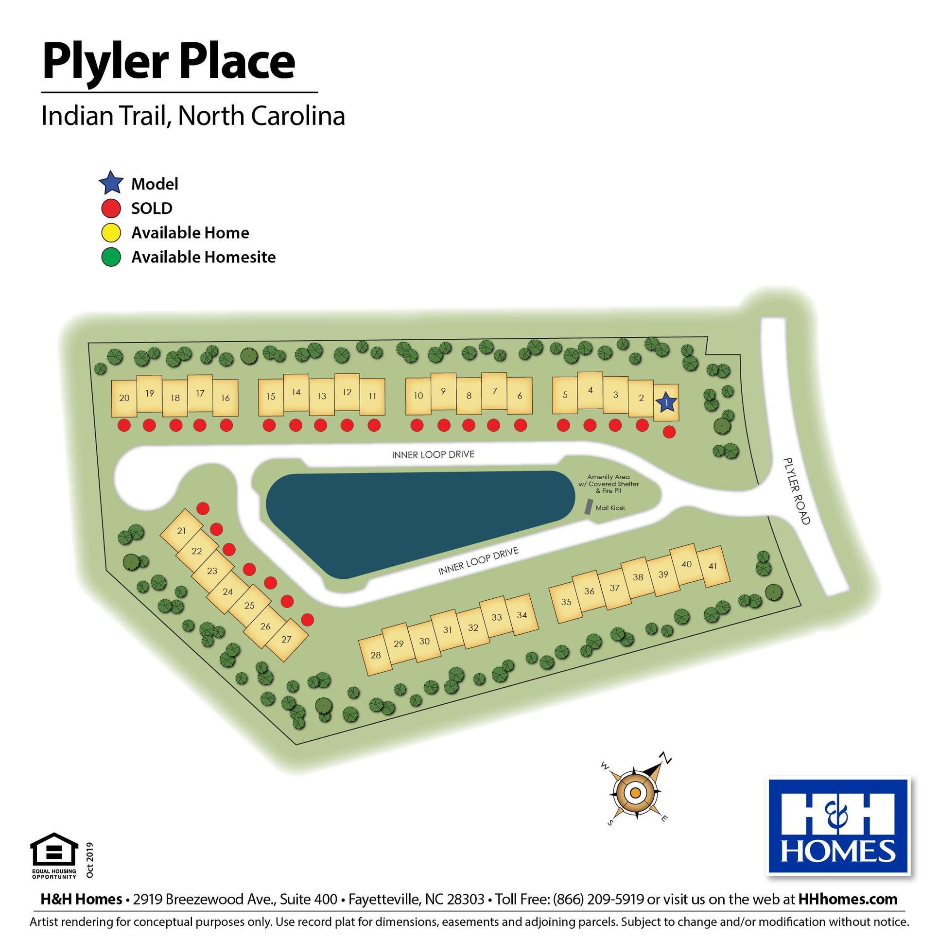 Plyler Place Lot Map