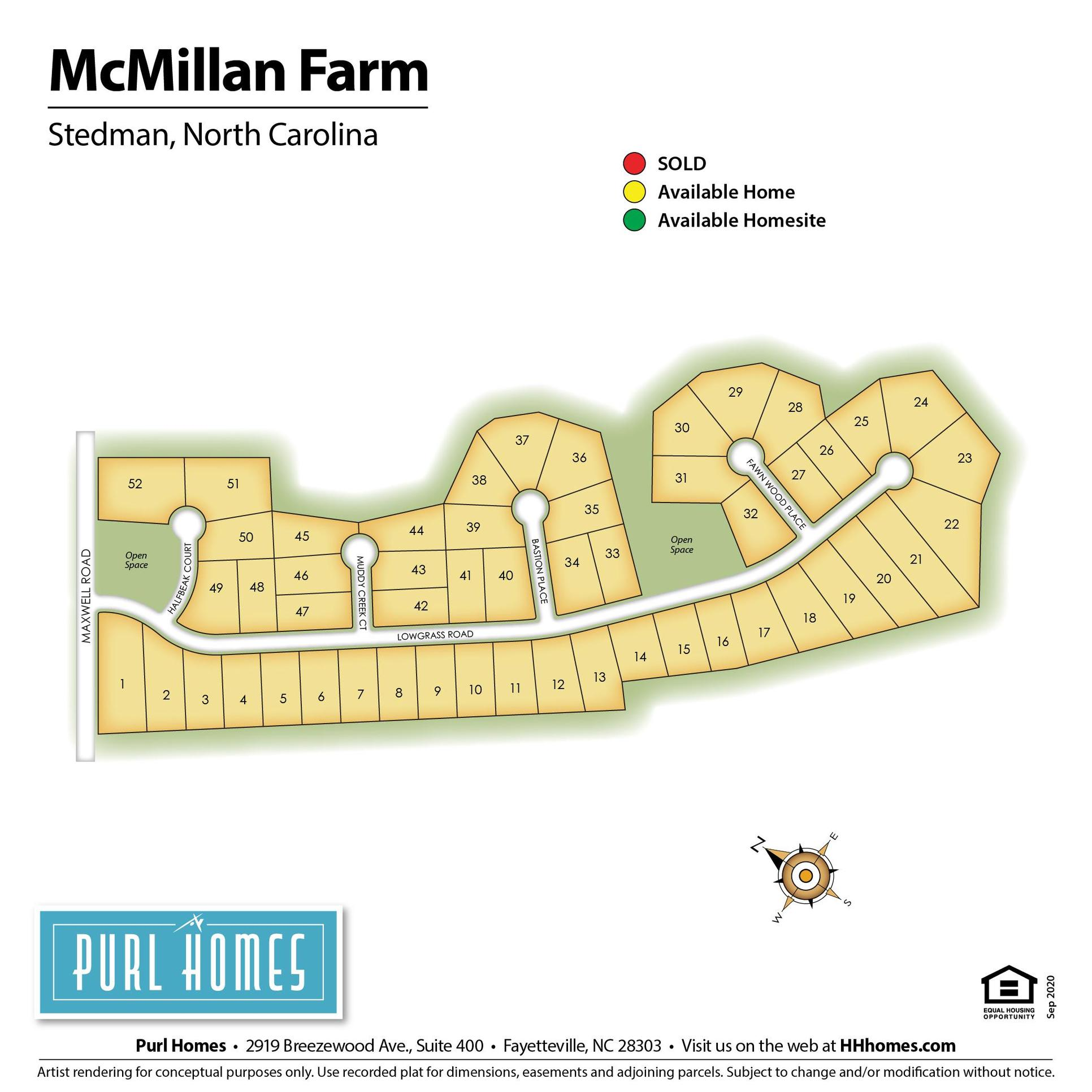 McMillan Farm Lot Map