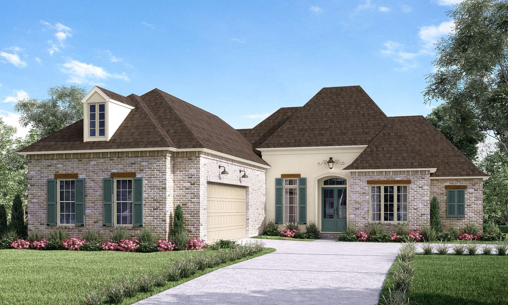 Front Elevation:The Caroline B - Highland Homes