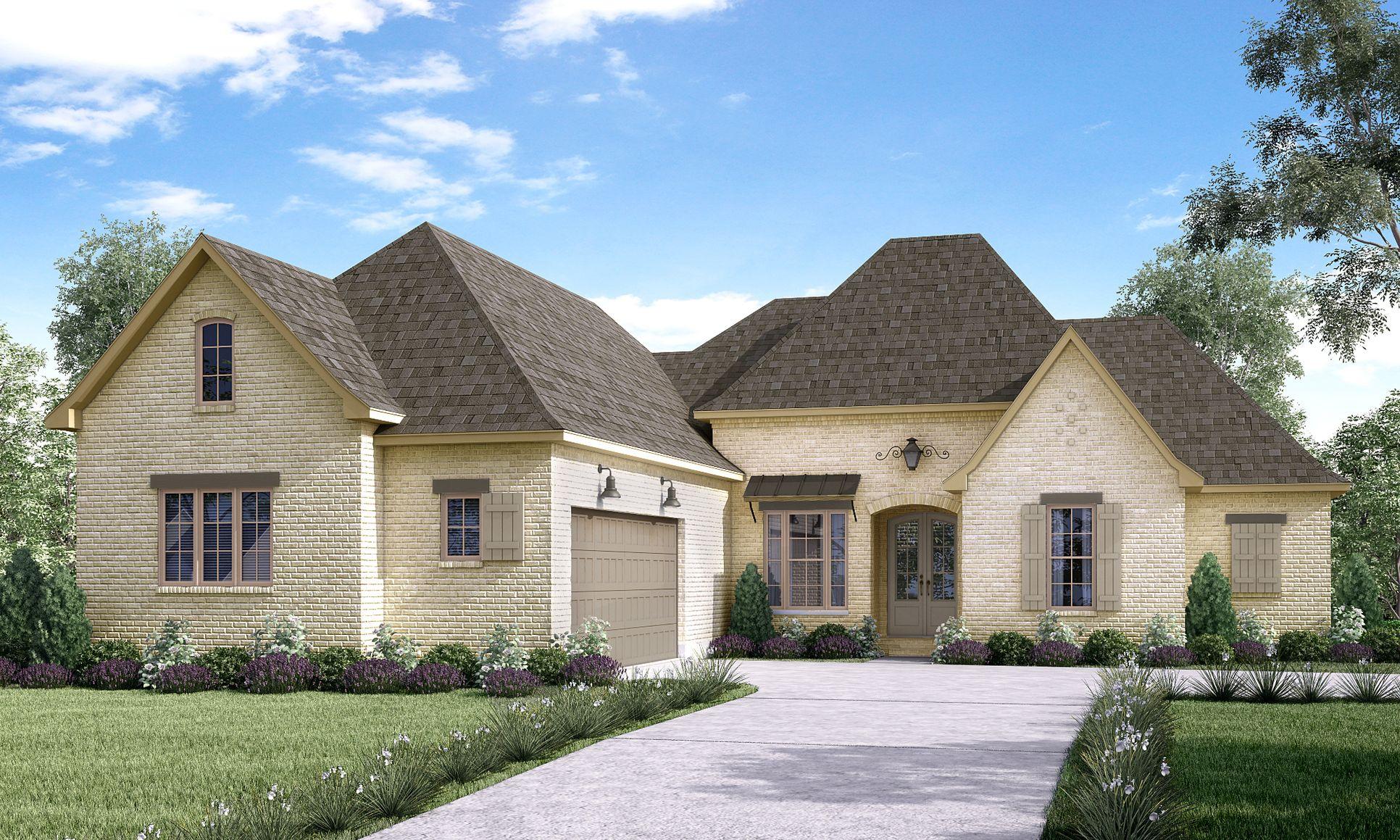 Front Elevation:The Caroline A - Highland Homes