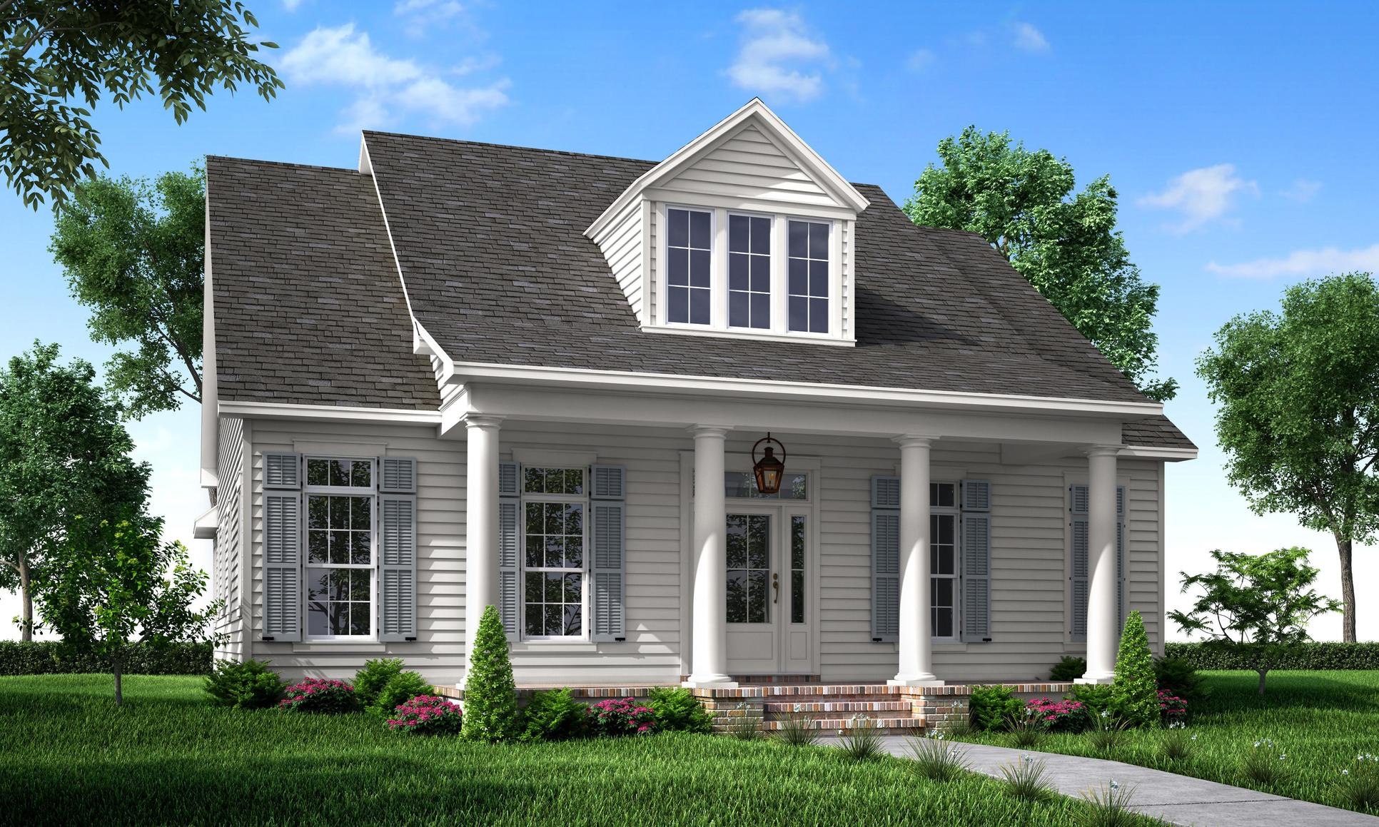 Front Elevation A:The Villa - Highland Homes