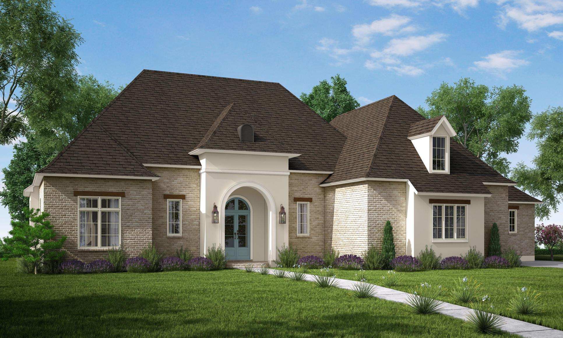 The Gabrielle A - Highland Homes:Front Elevation