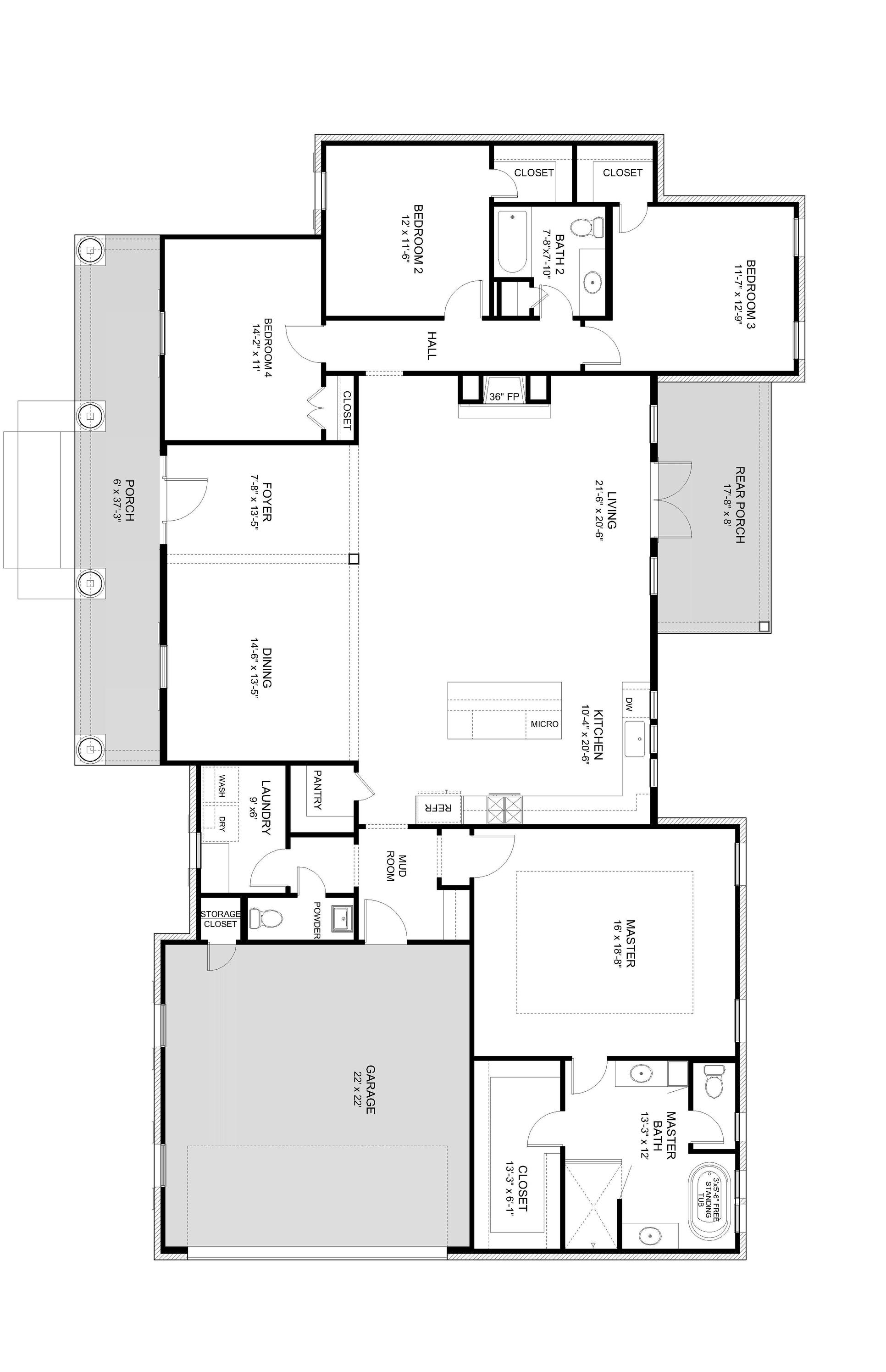 The Ormond - Highland Homes:Floor Plan