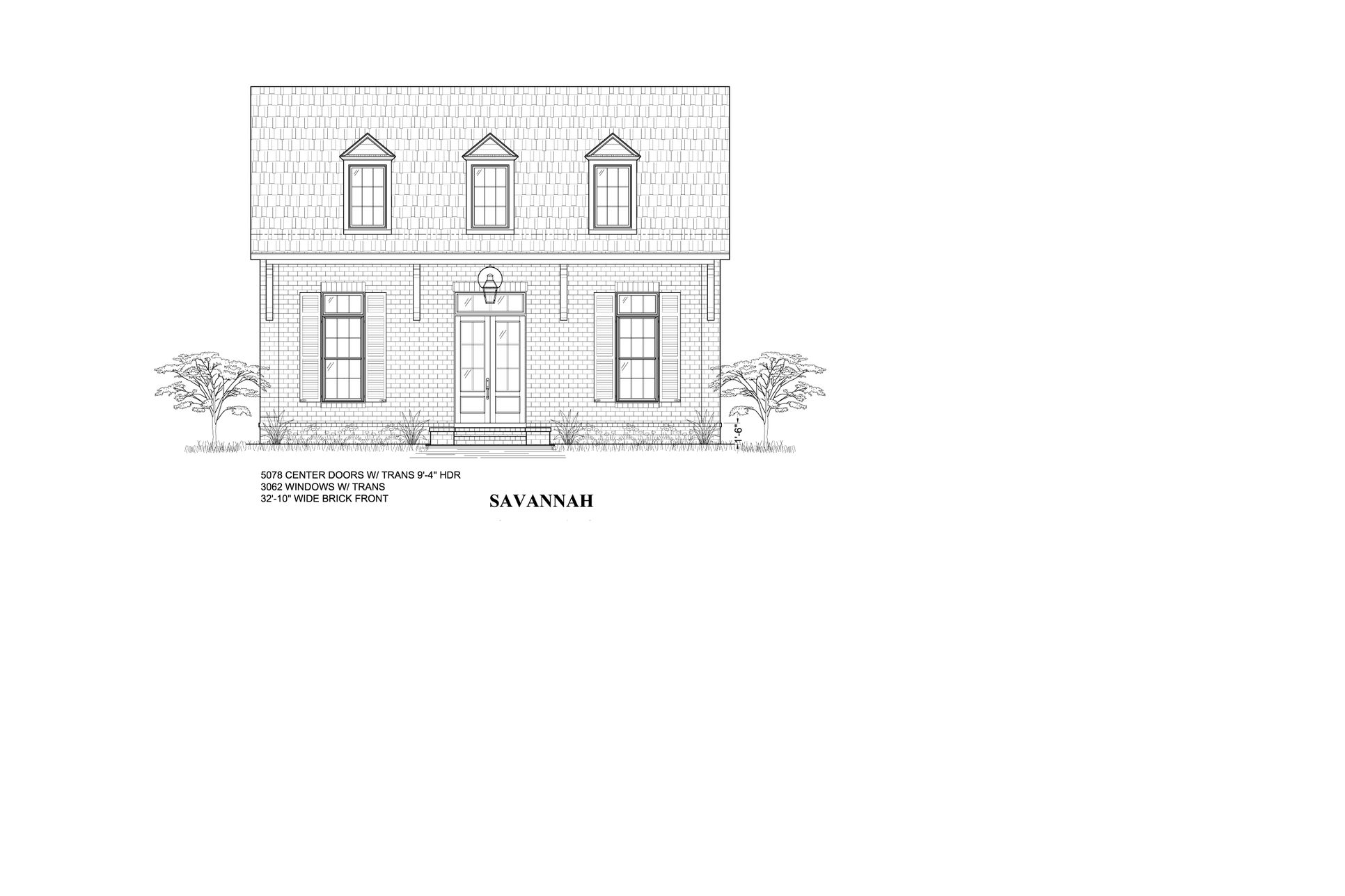 The Savannah - Highland Homes:Front Elevation