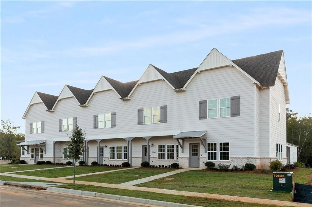 Example of completed townhome:Example of completed townhome