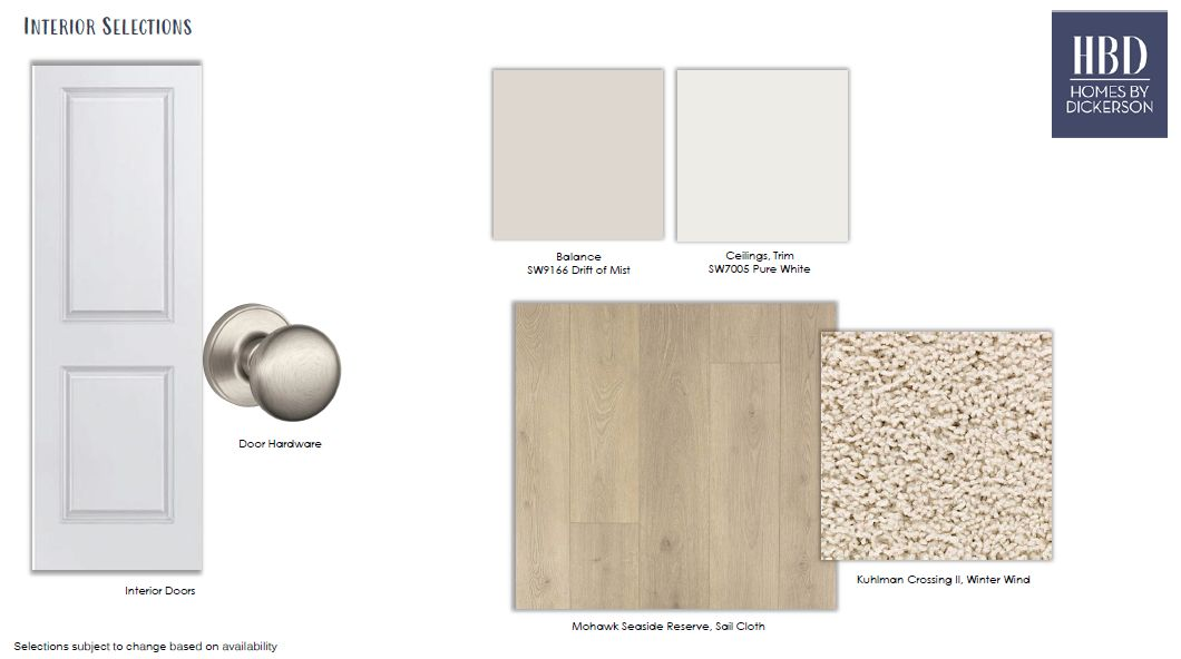 Design Selections:Design Selections
