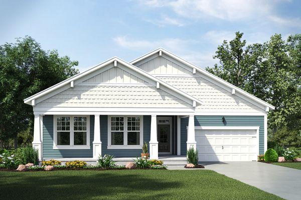 Lexington:Craftsmann Elevation with Full Porch