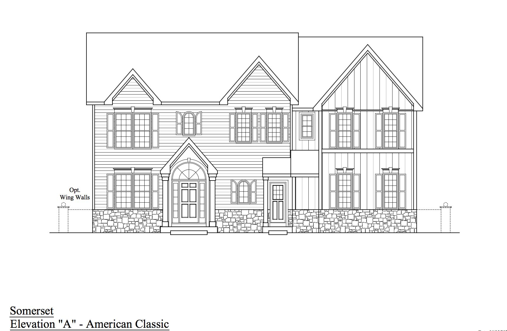 The Somerset:Elevation A - American Classic