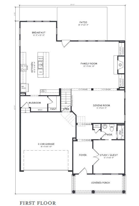 The Wallace:First Floor Plan