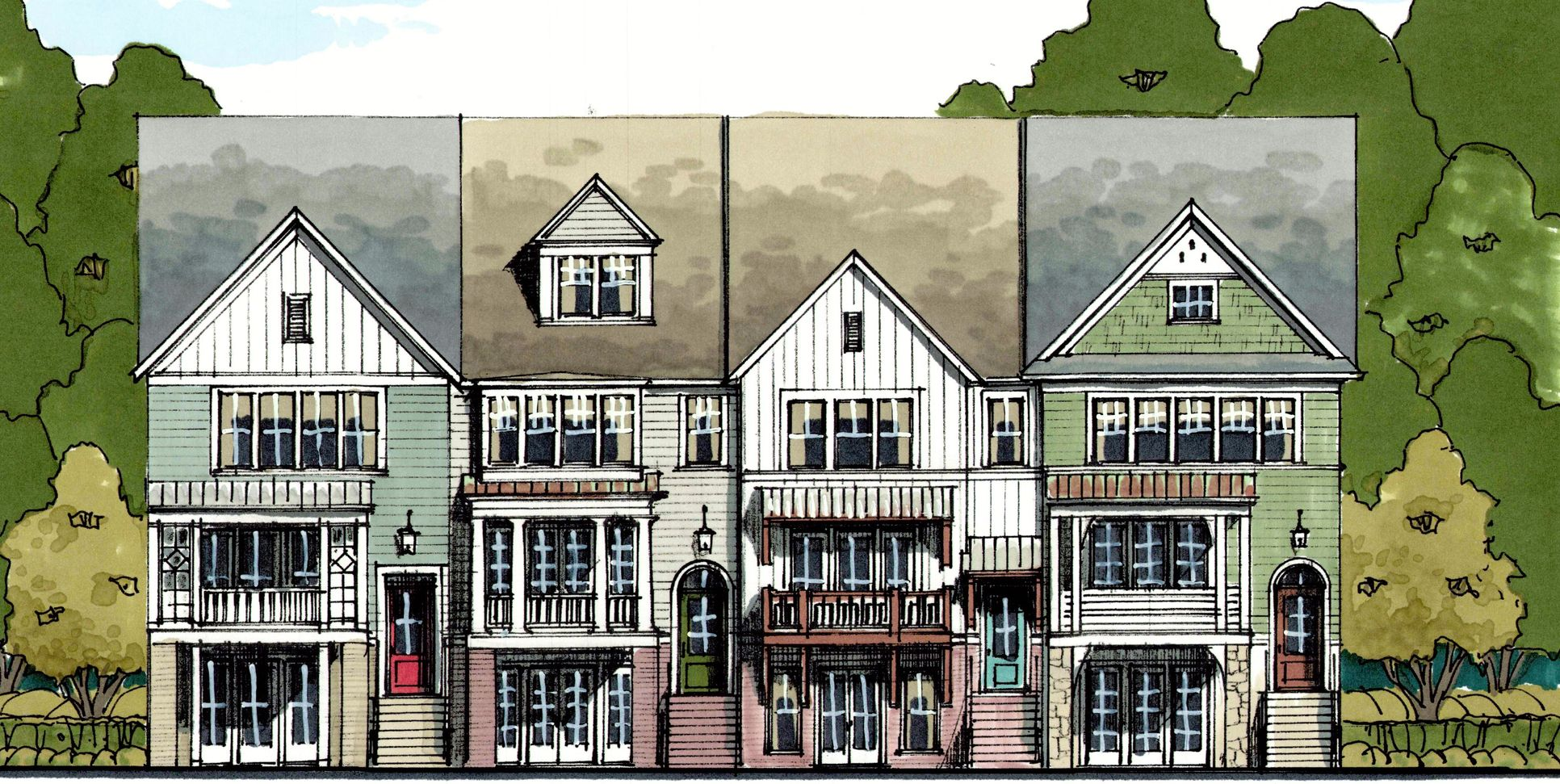 The Windwood:3-Story Elevator-Capable Townhomes