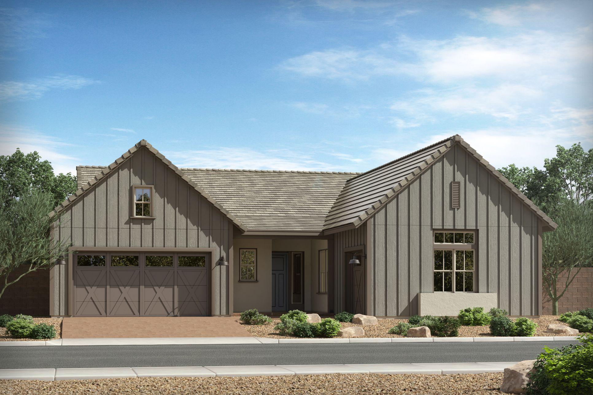 Yucca:Urban Farmhouse Elevation