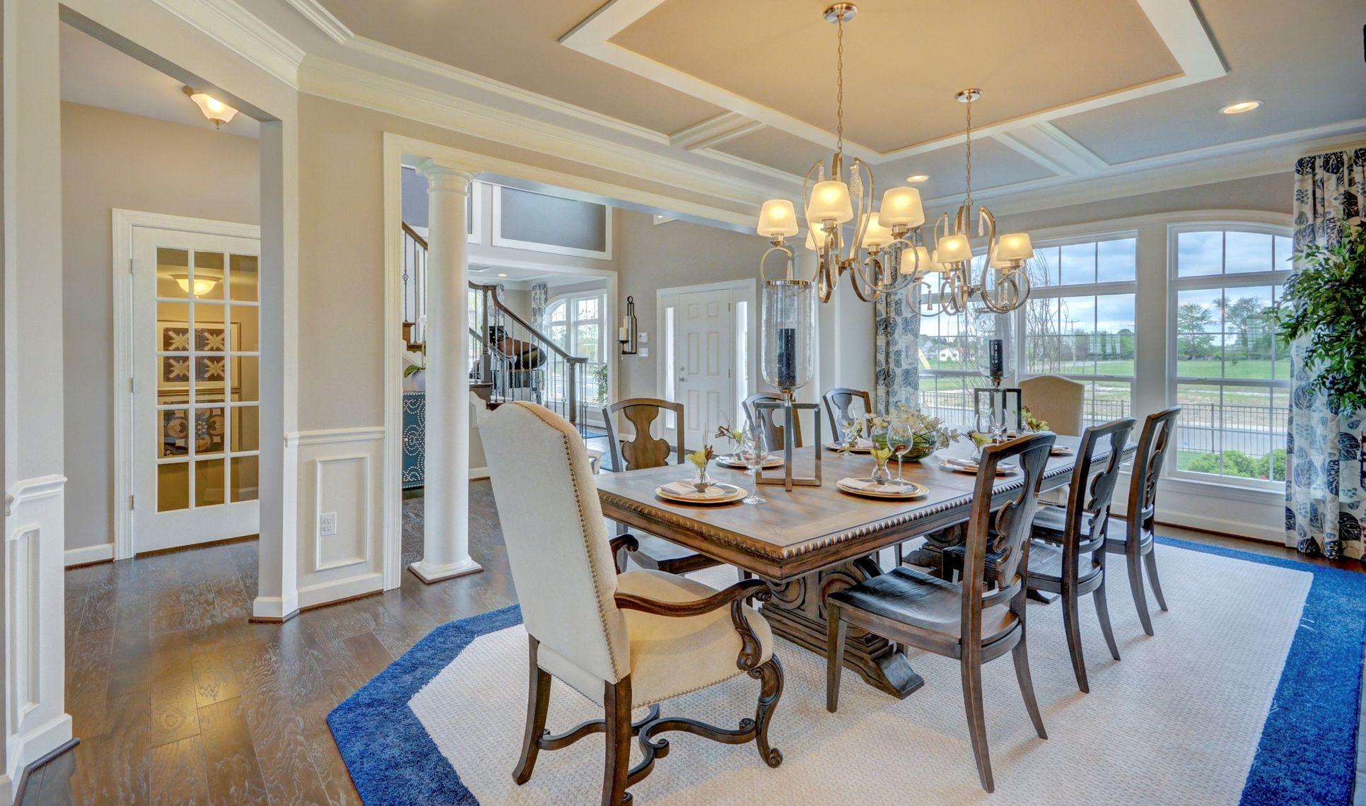 Interior:Formal dining room off foyer