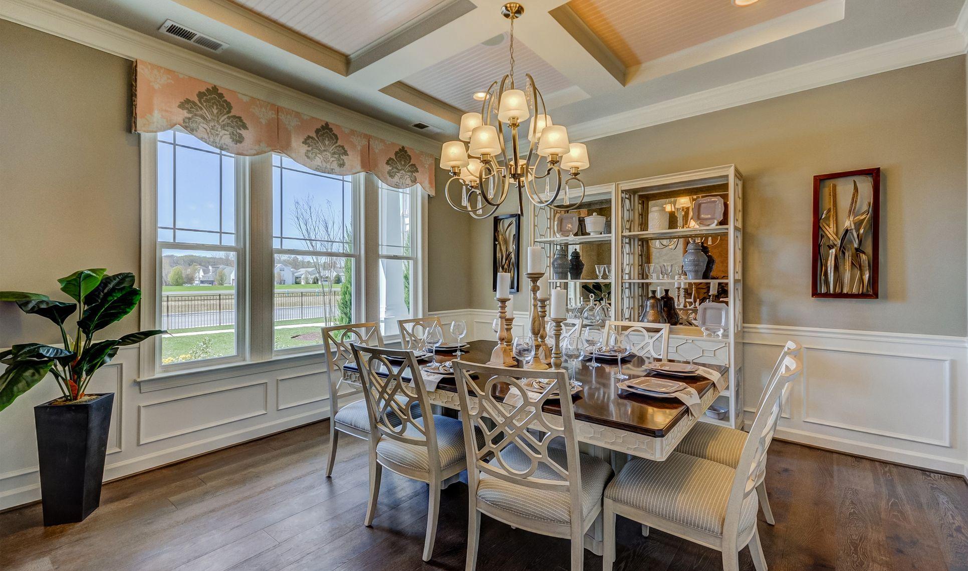 Interior:Inviting formal dining room
