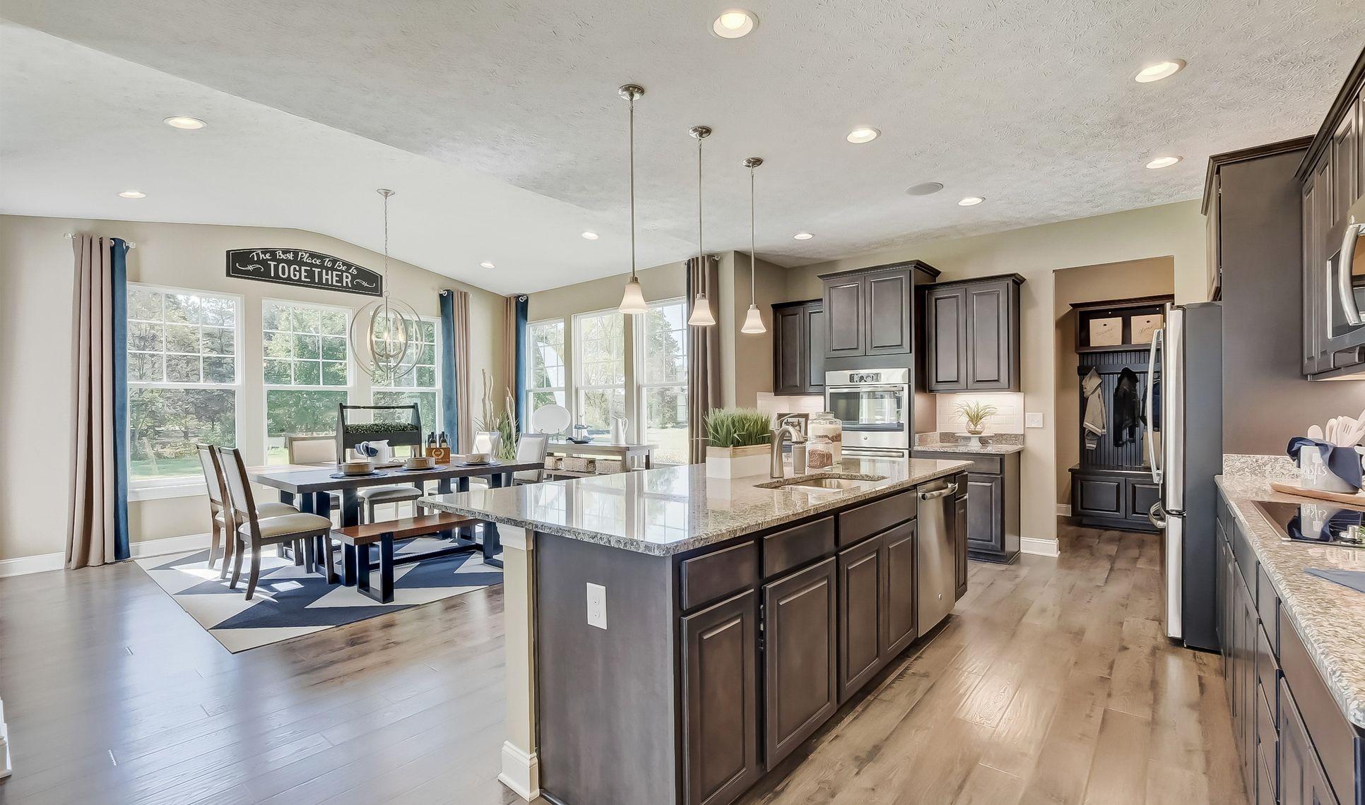 Interior:Kitchen overlooking morning room