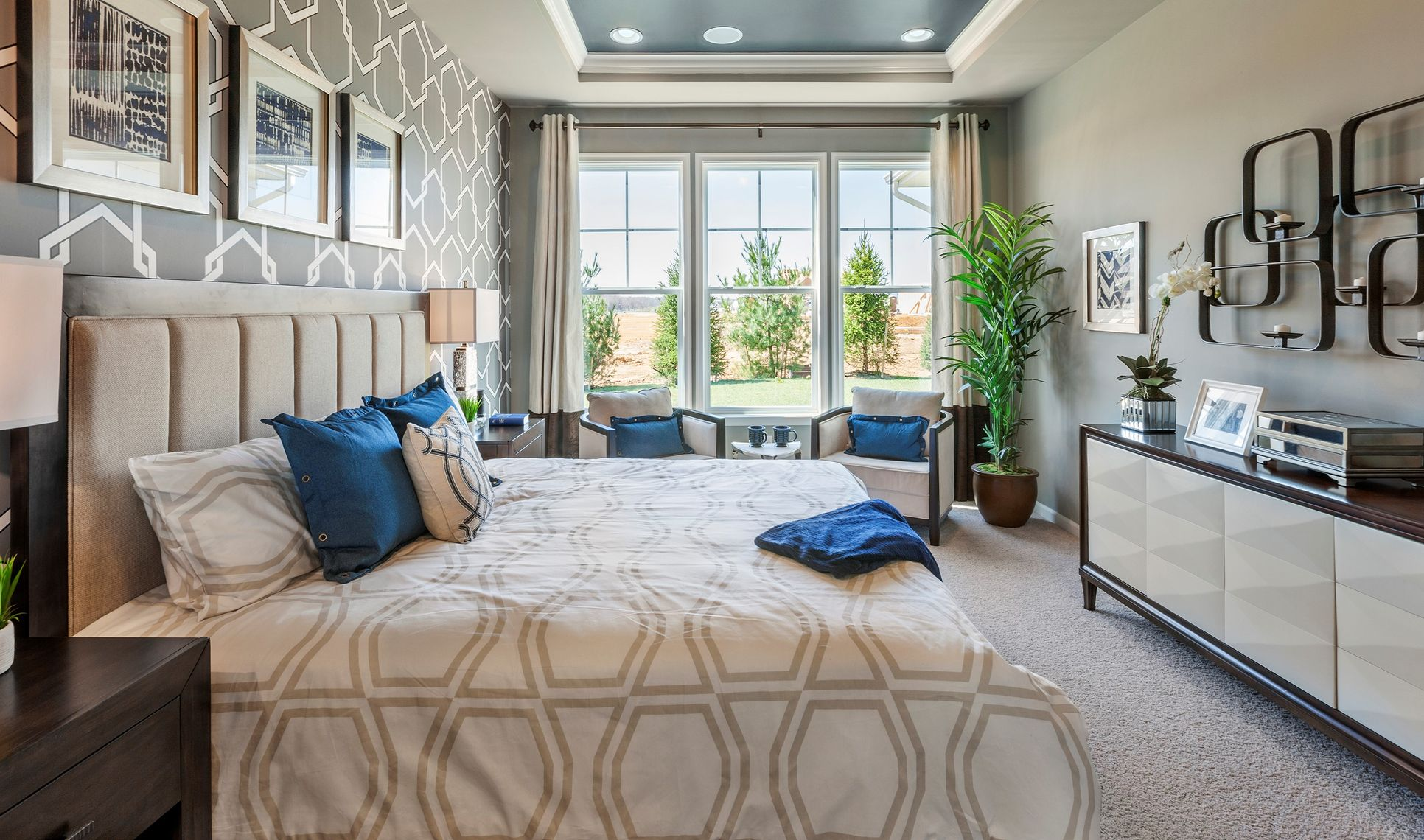 Interior:Sophisticated owner's suite
