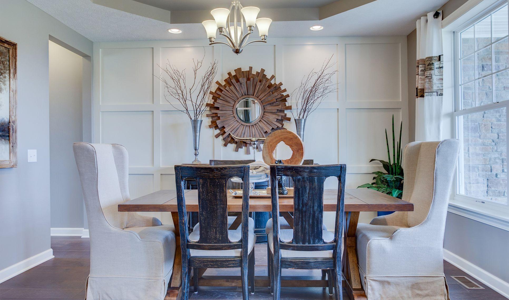 Interior:Inviting dining room