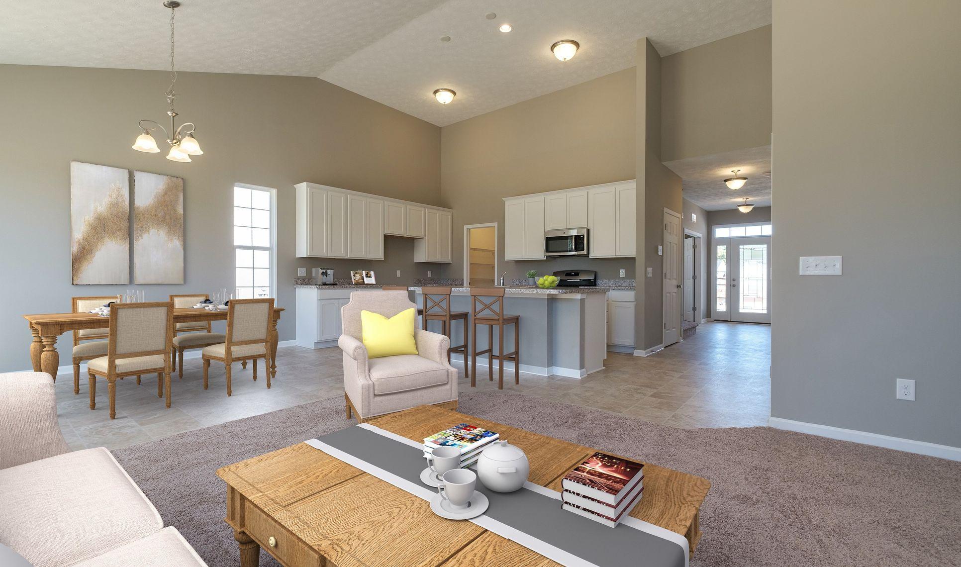 Interior:Open and airy floorplan
