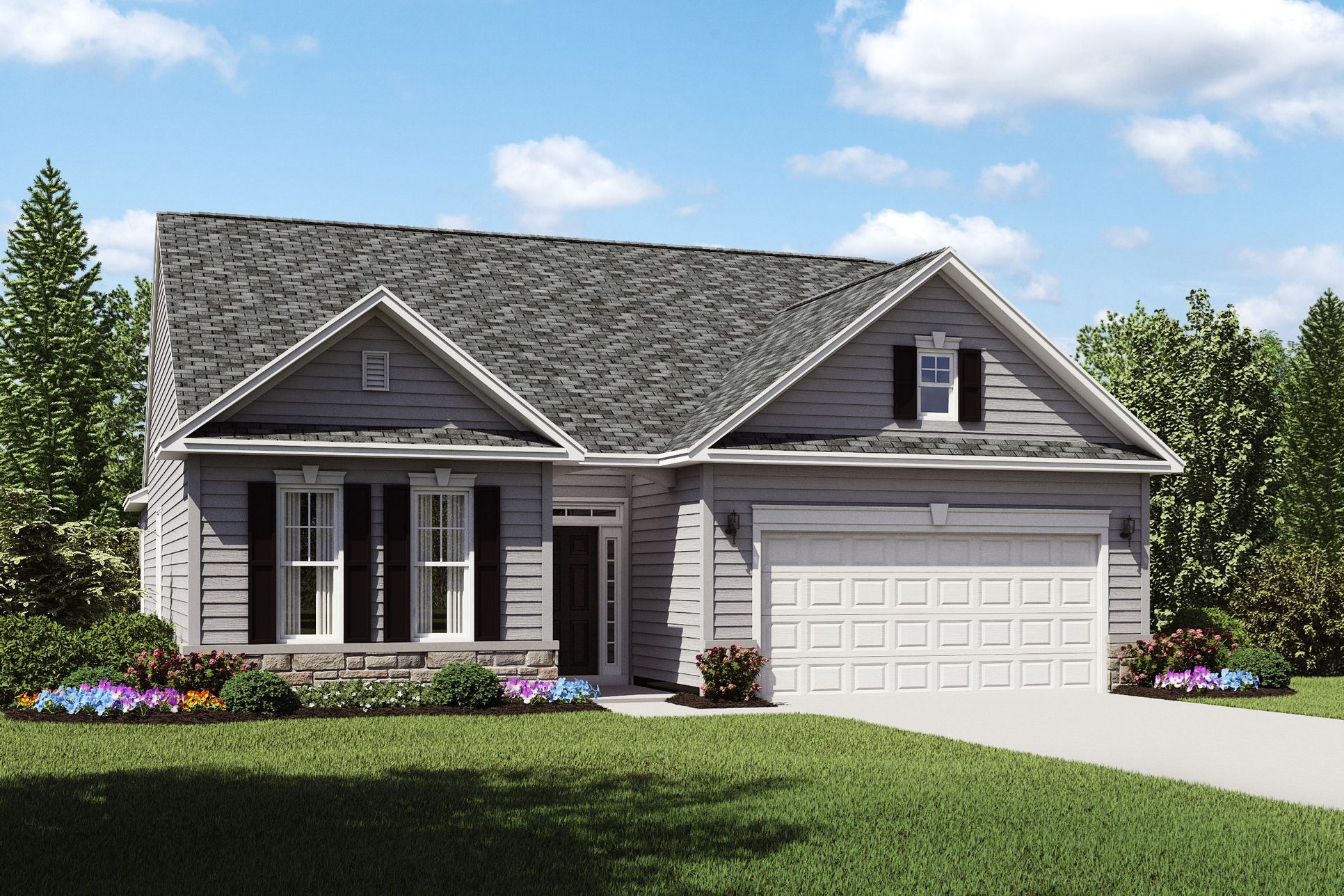 Exterior:Dorchester D with opt. stone