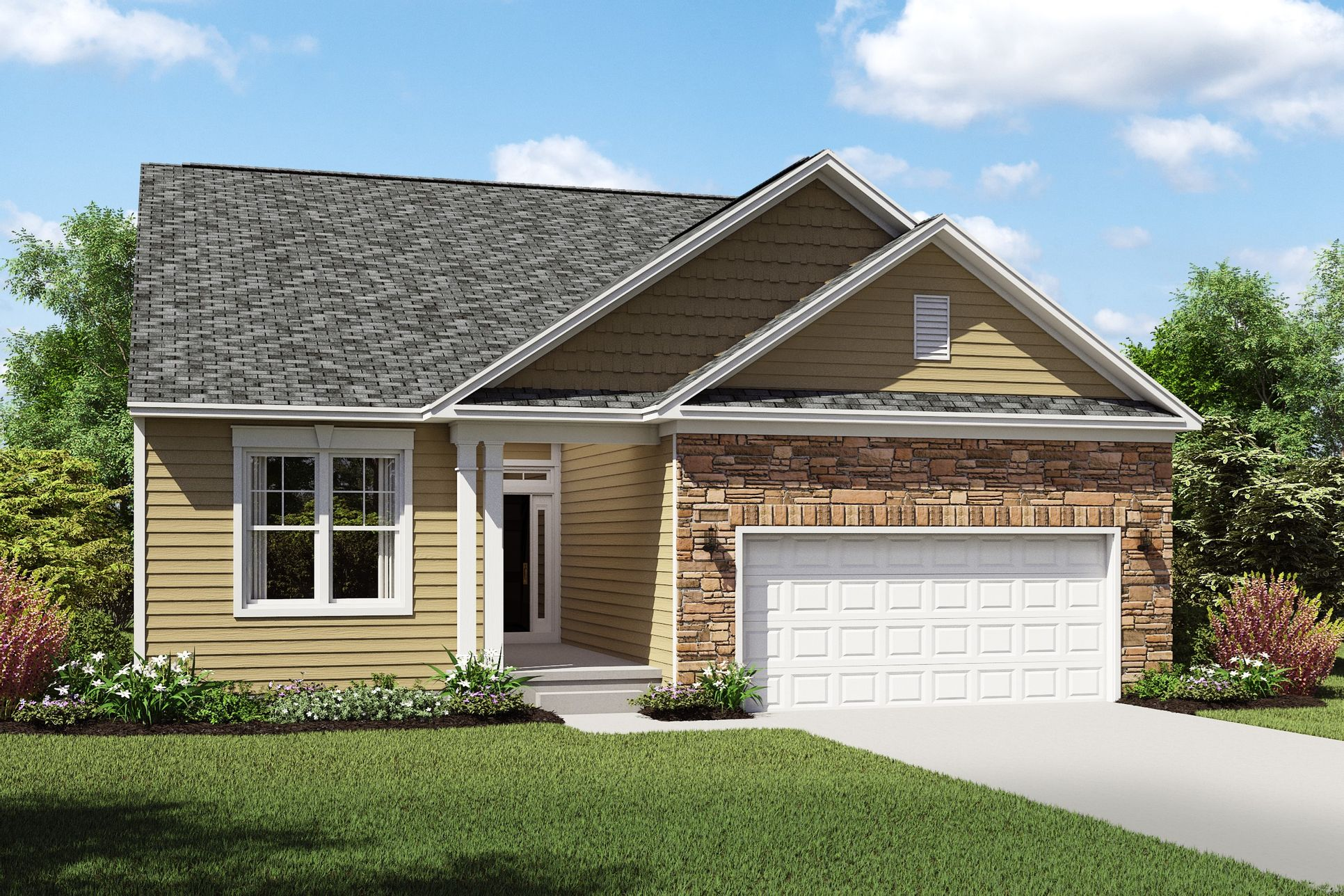 Exterior:Killarney D with opt. stone