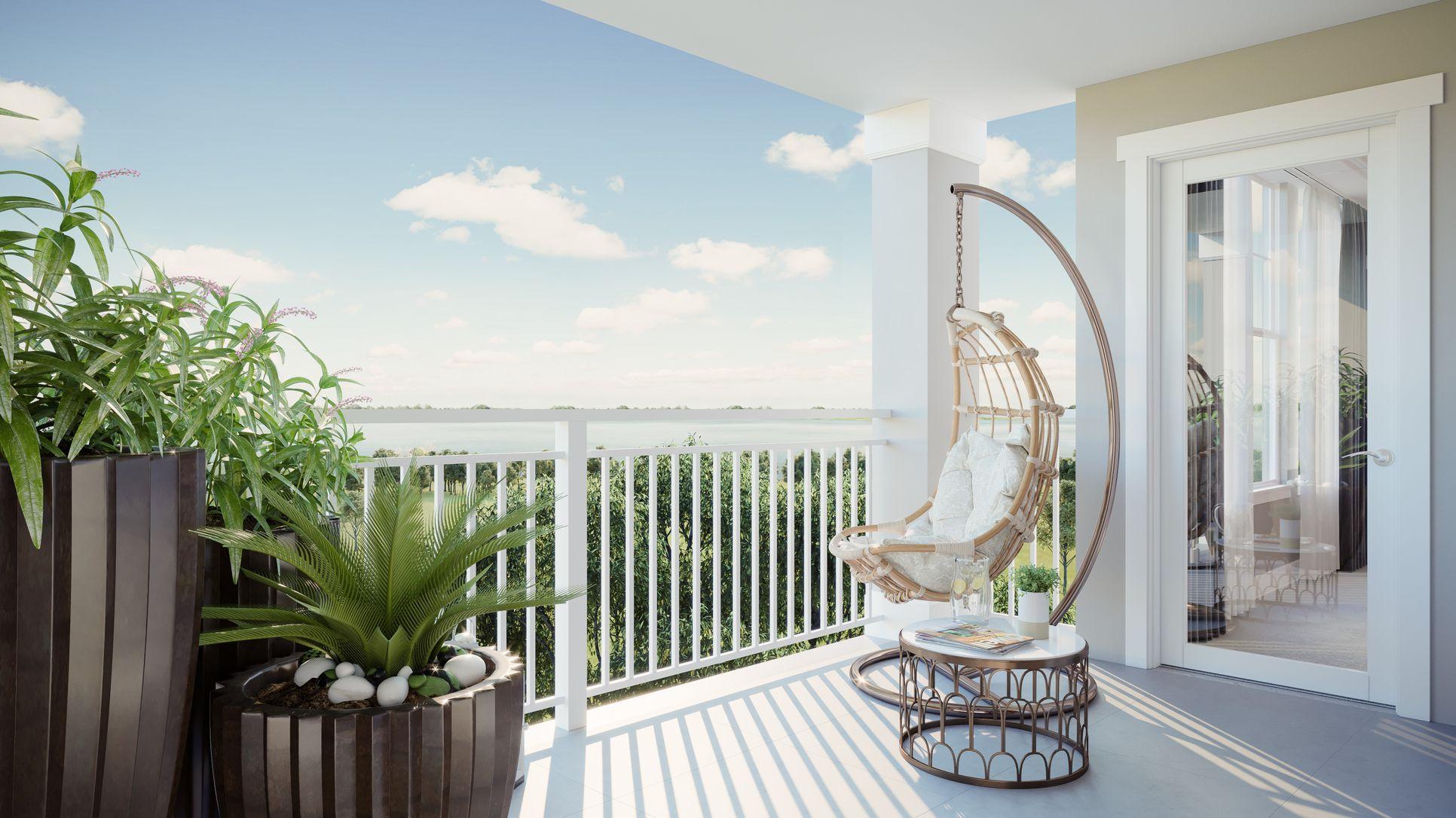 Interior:Spacious balcony