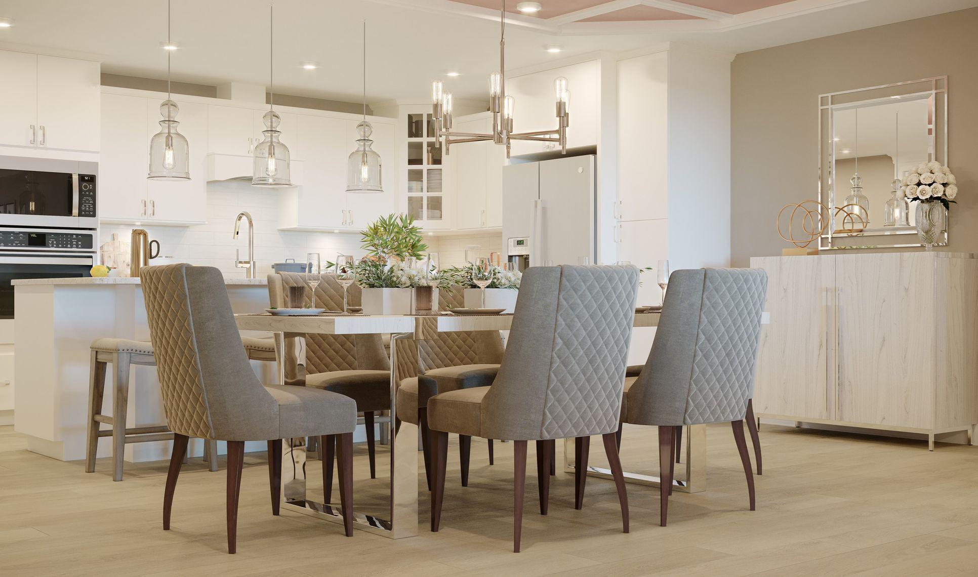 Interior:Charming dining area