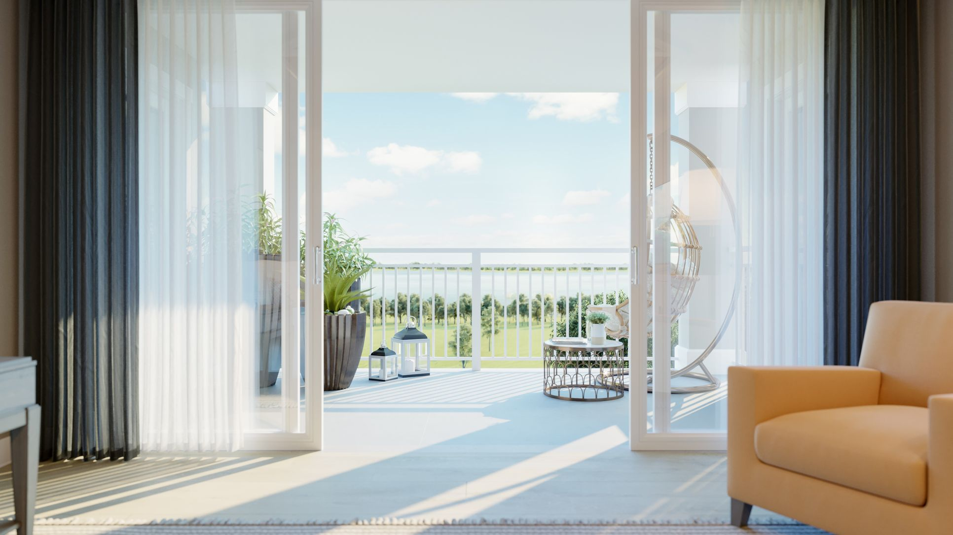 Interior:Balcony for outdoor living