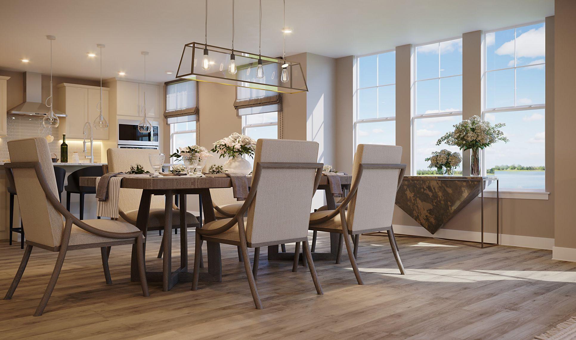 Interior:Elegant dining area