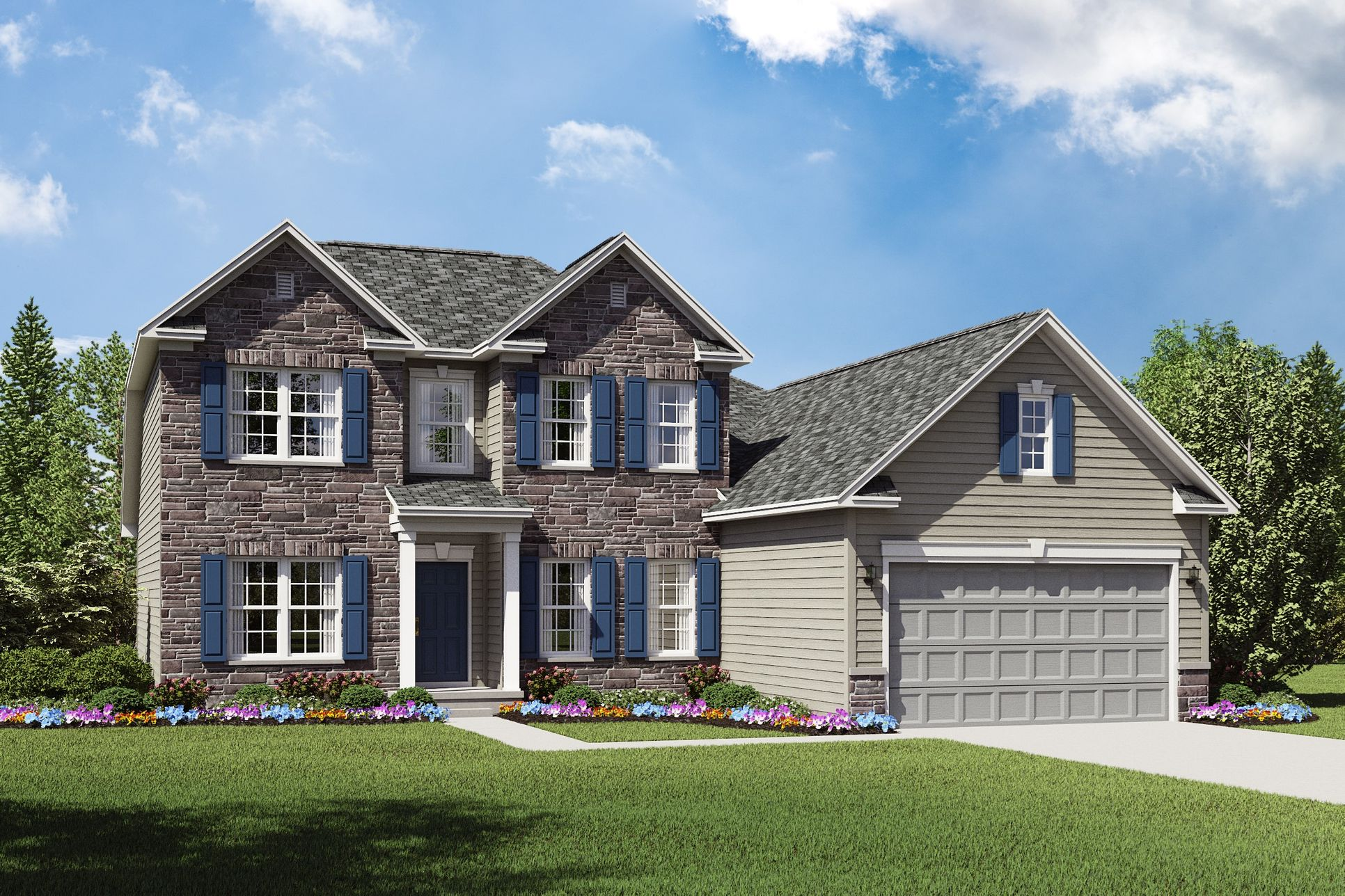 Exterior:Lakeport G with opt. stone
