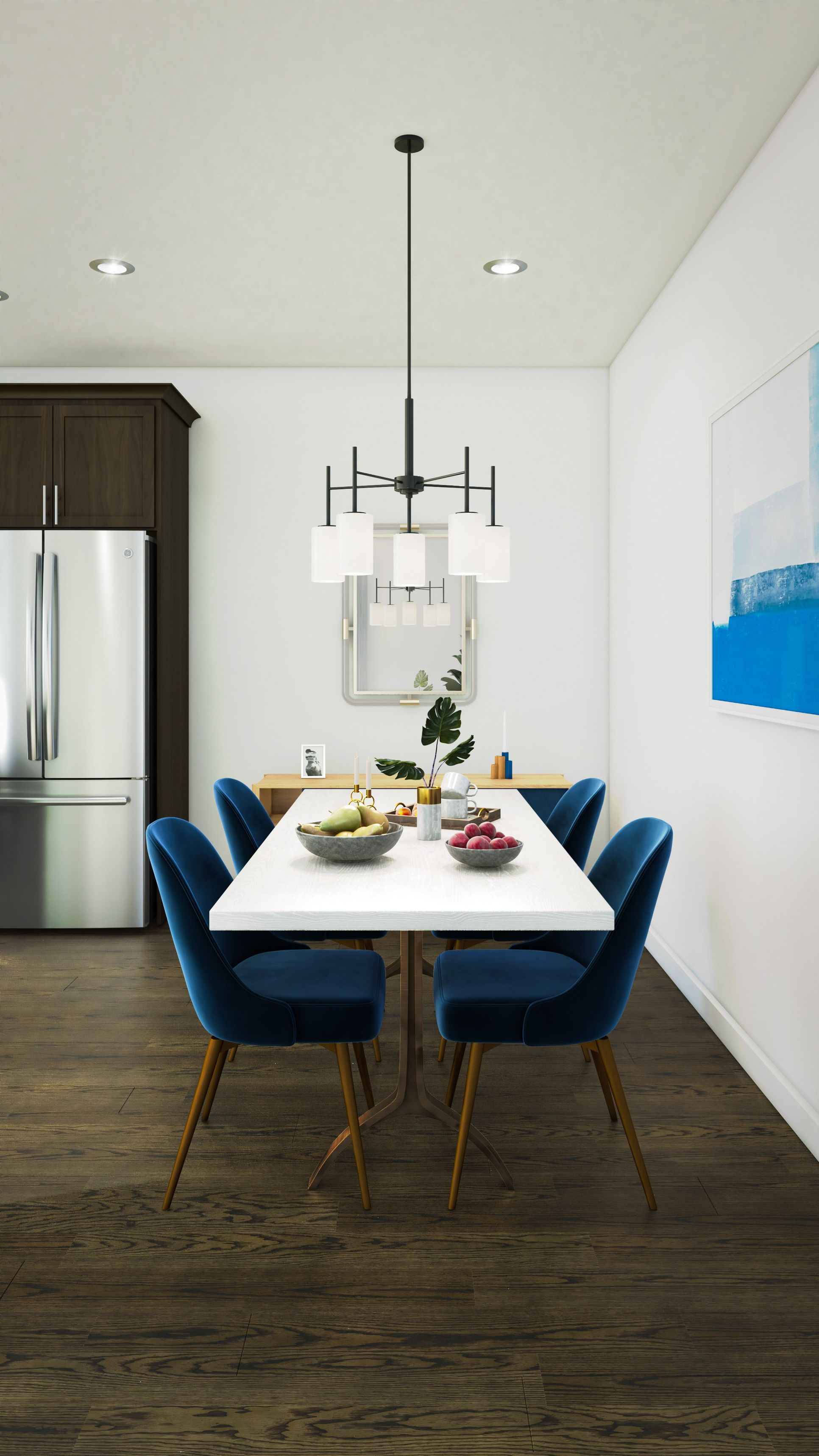 Interior:Kitchen with dining area
