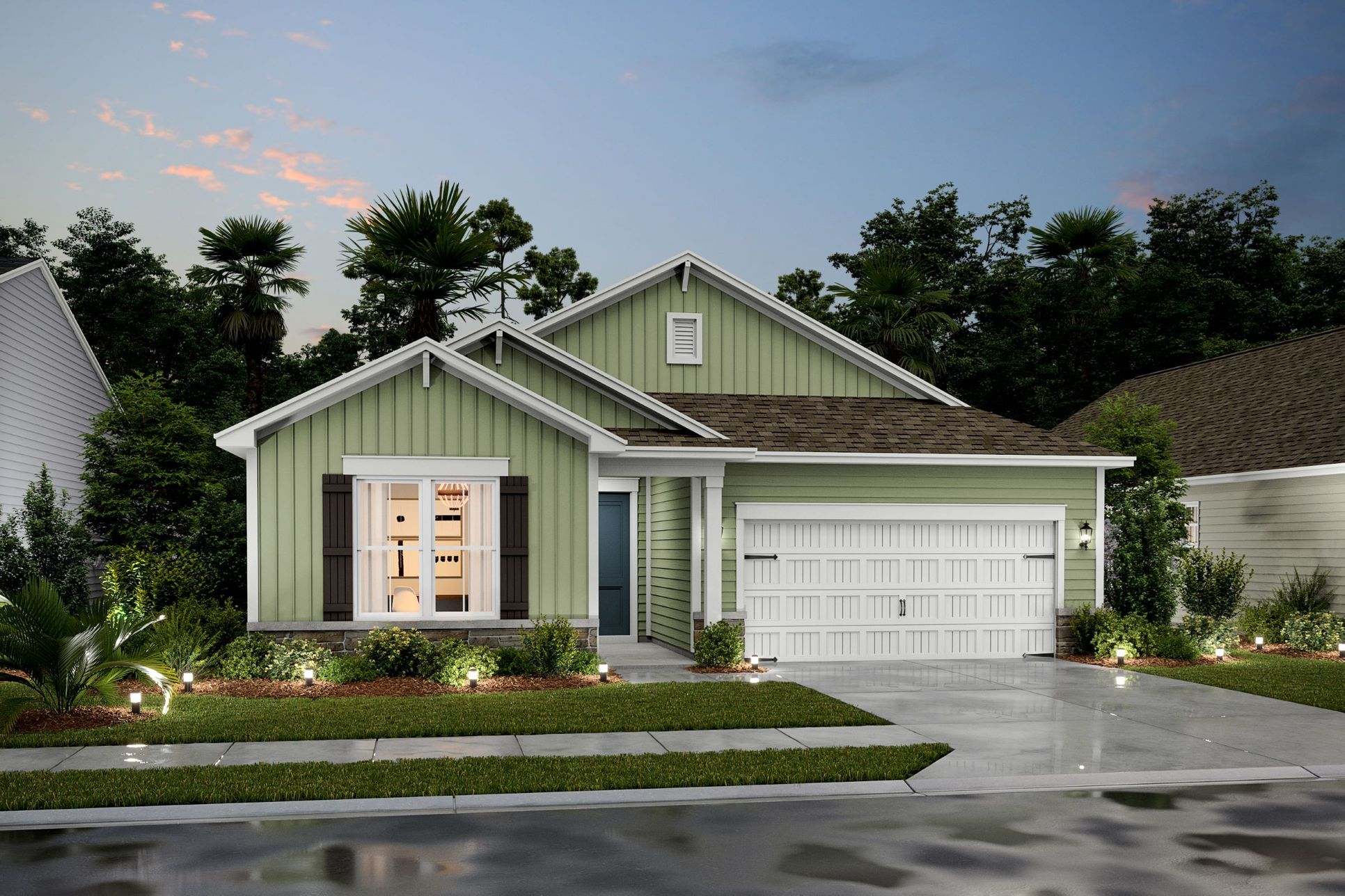 Exterior:Palmera II – FS Shown with Opt. Stone