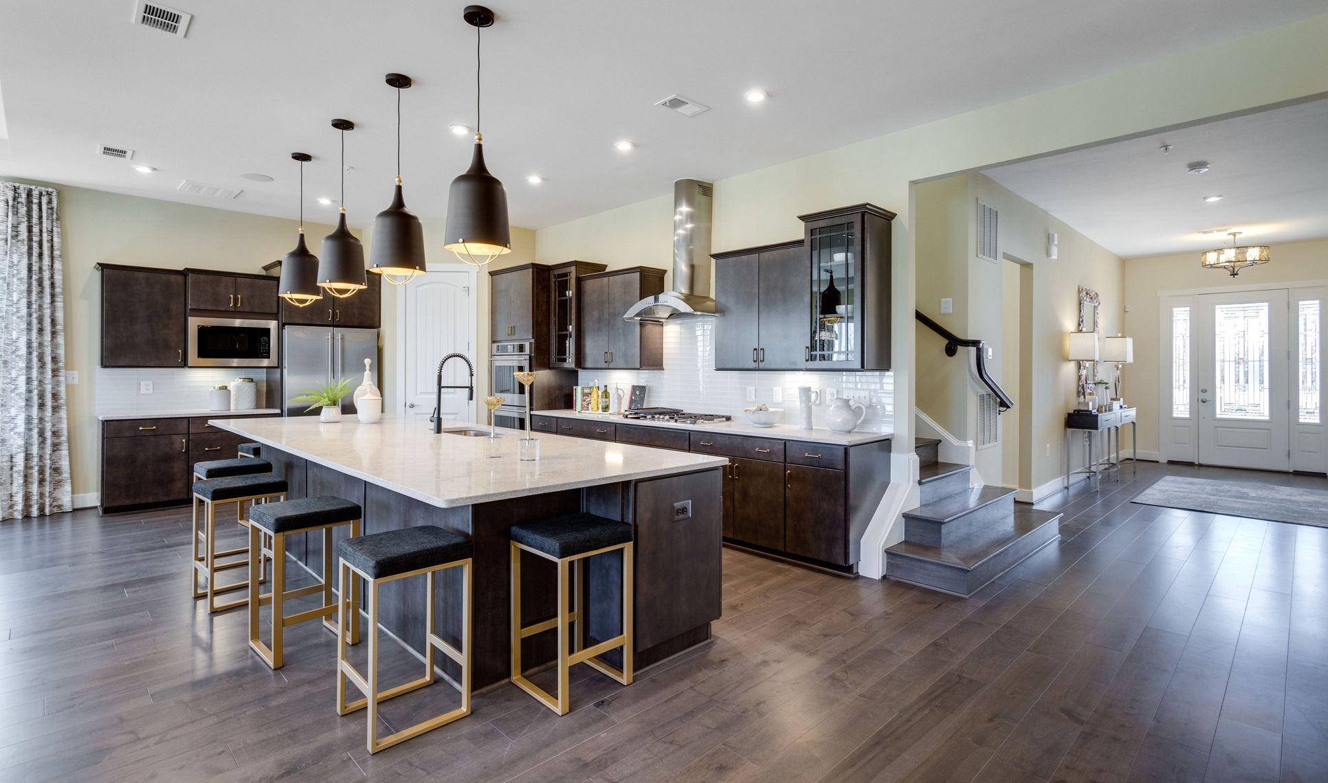 Interior:Kitchen with breakfast bar seating
