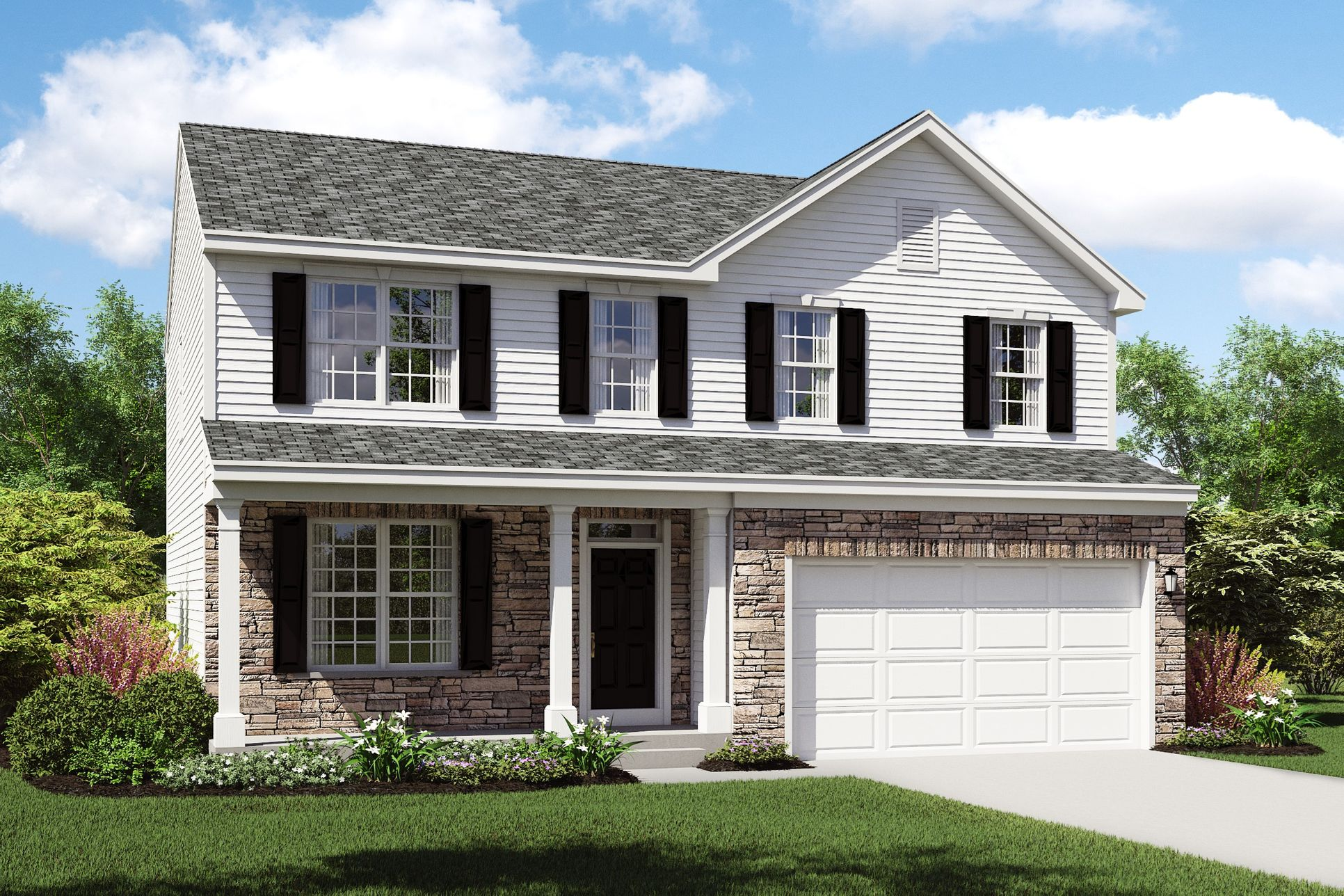 Exterior:Hanover C with opt. stone