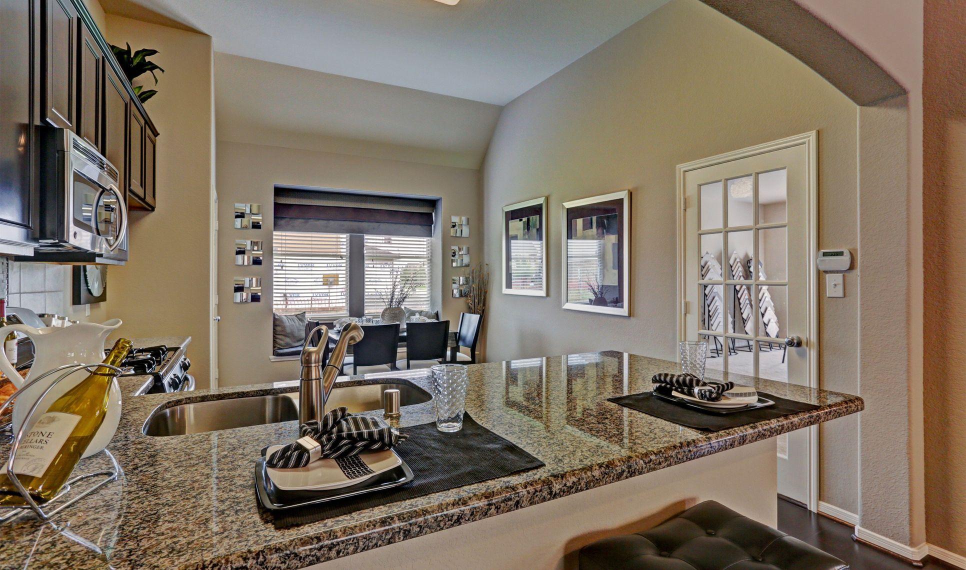Interior:Stylish kitchen with dining area