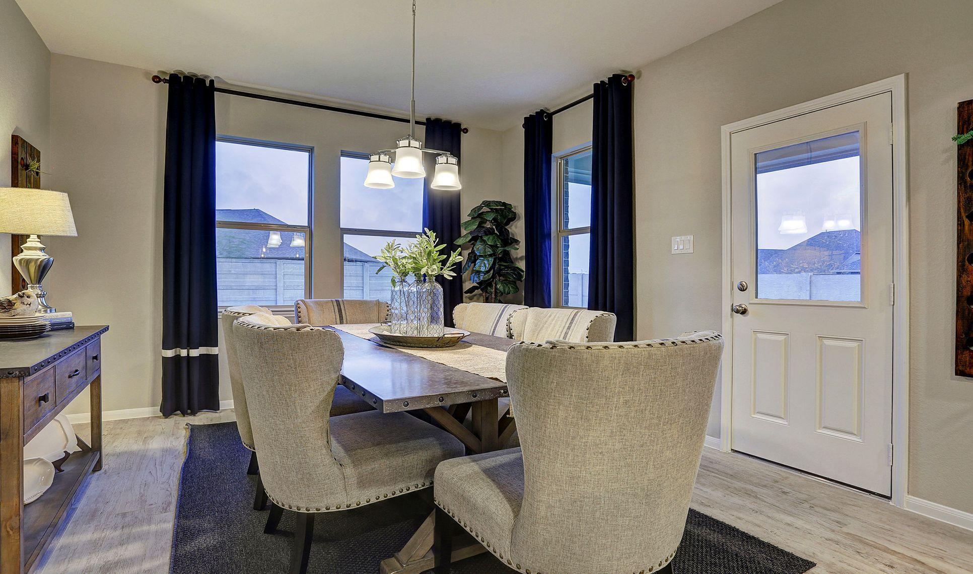 Interior:Sun-lit dining area