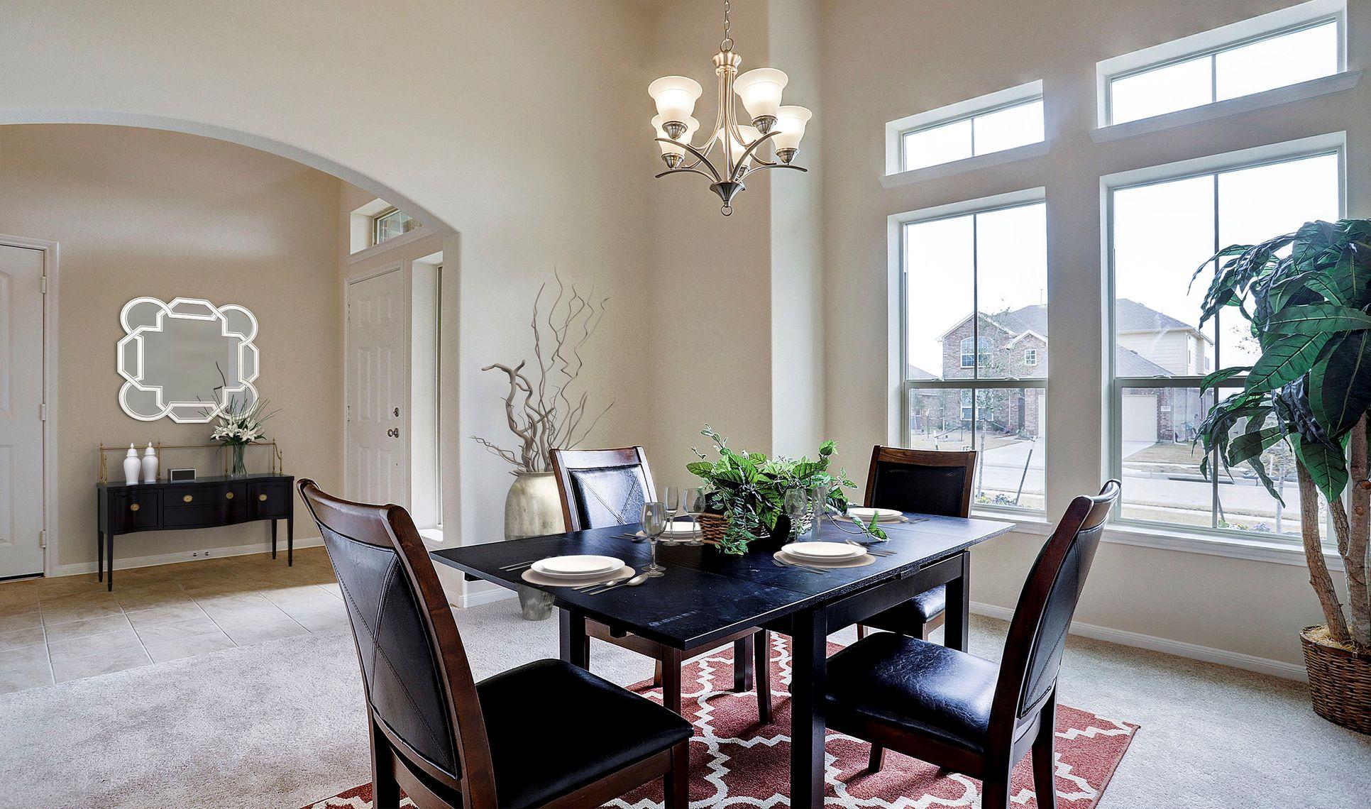 Interior:Dining room off foyer
