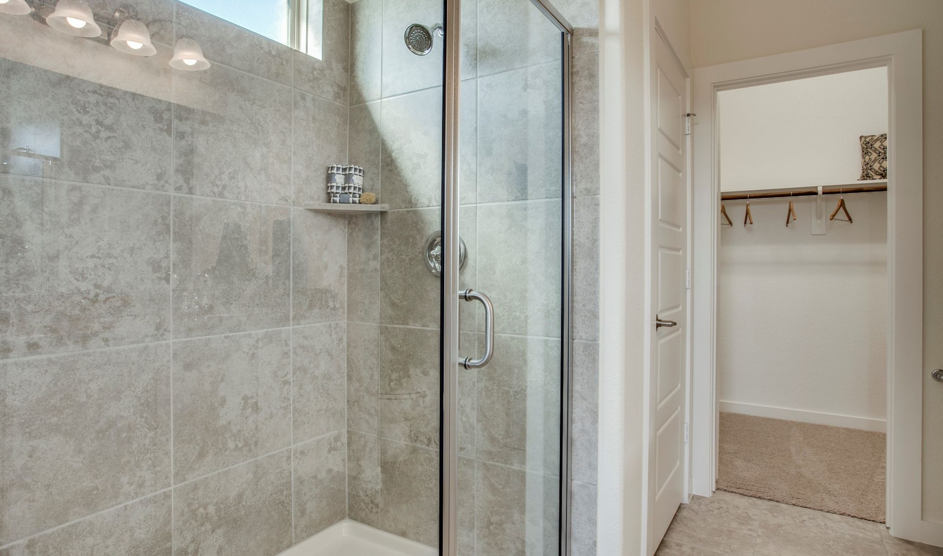 Interior:Large shower in optional spa bath