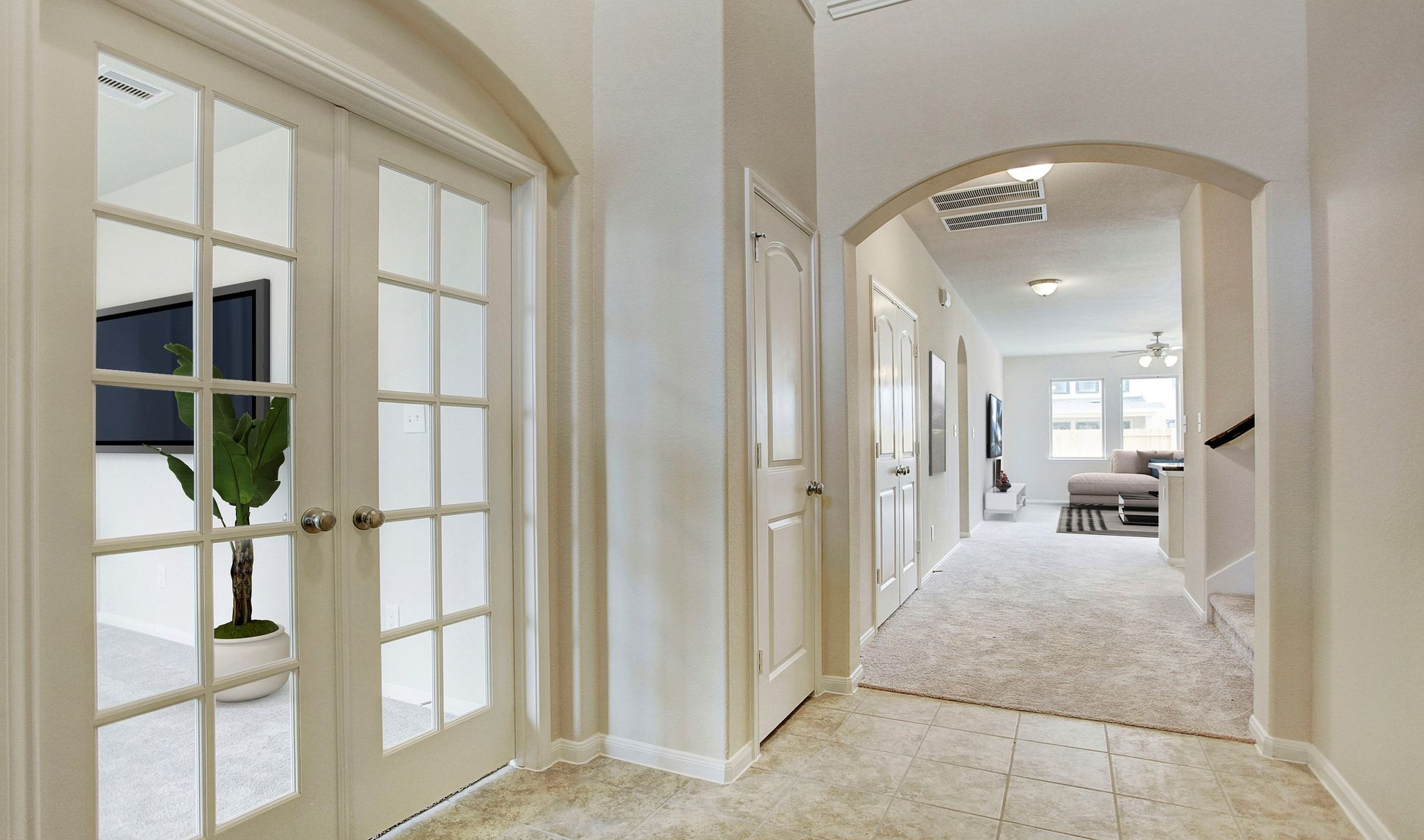 Interior:Home office tucked off foyer